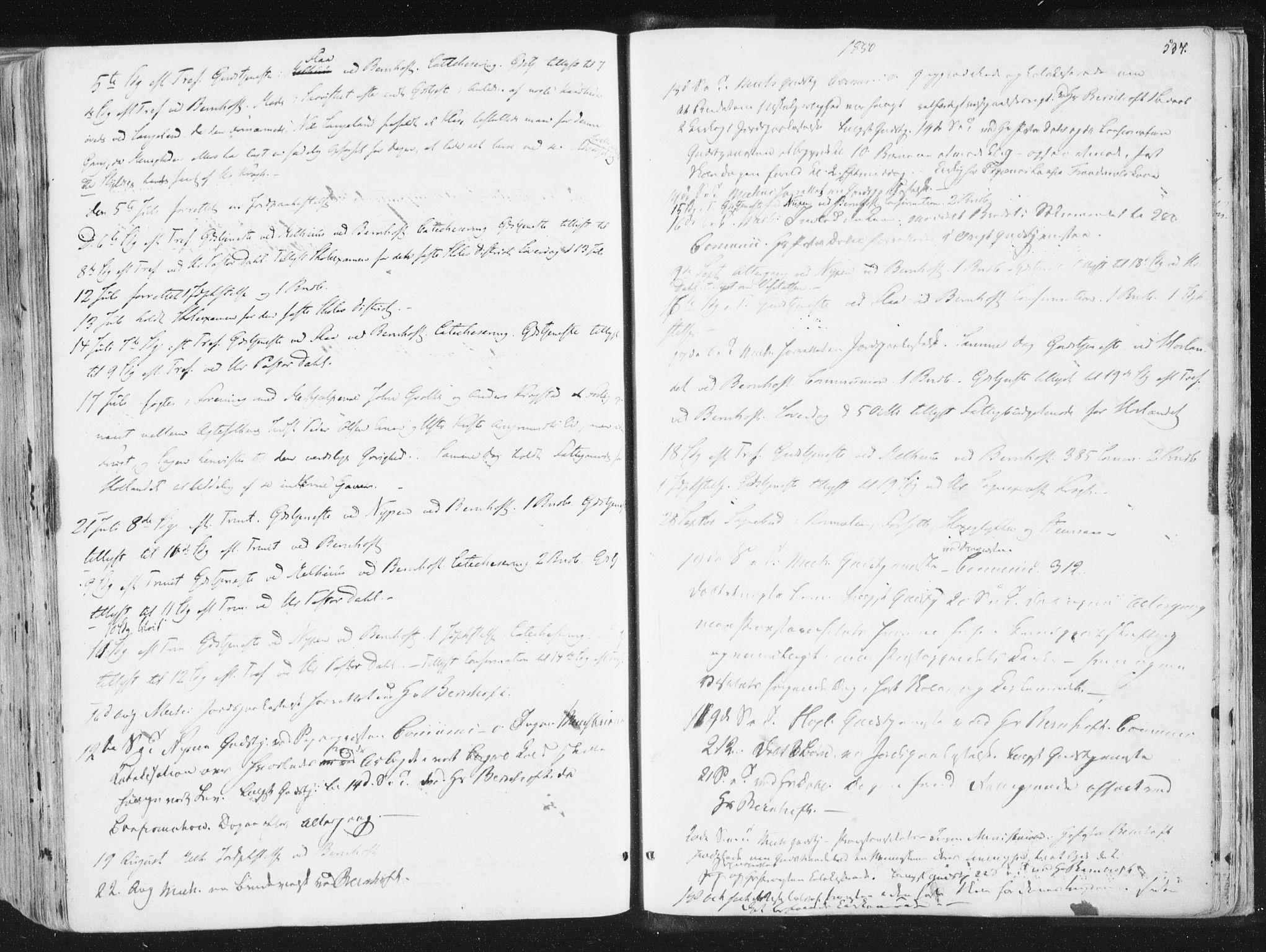 SAT, Ministerialprotokoller, klokkerbøker og fødselsregistre - Sør-Trøndelag, 691/L1074: Ministerialbok nr. 691A06, 1842-1852, s. 537