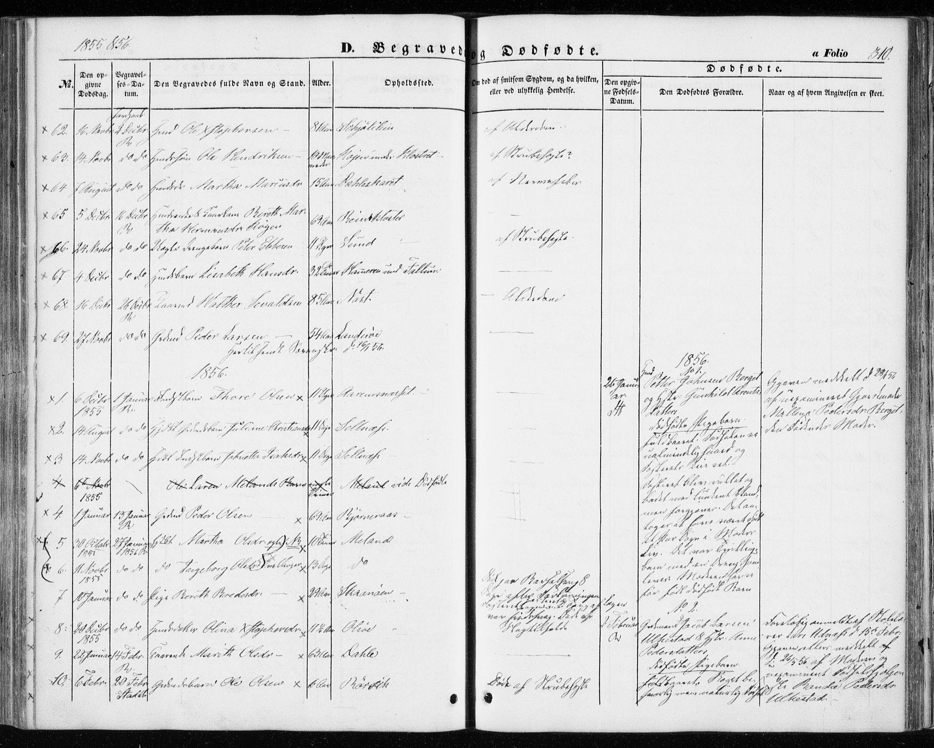 SAT, Ministerialprotokoller, klokkerbøker og fødselsregistre - Sør-Trøndelag, 646/L0611: Ministerialbok nr. 646A09, 1848-1857, s. 310