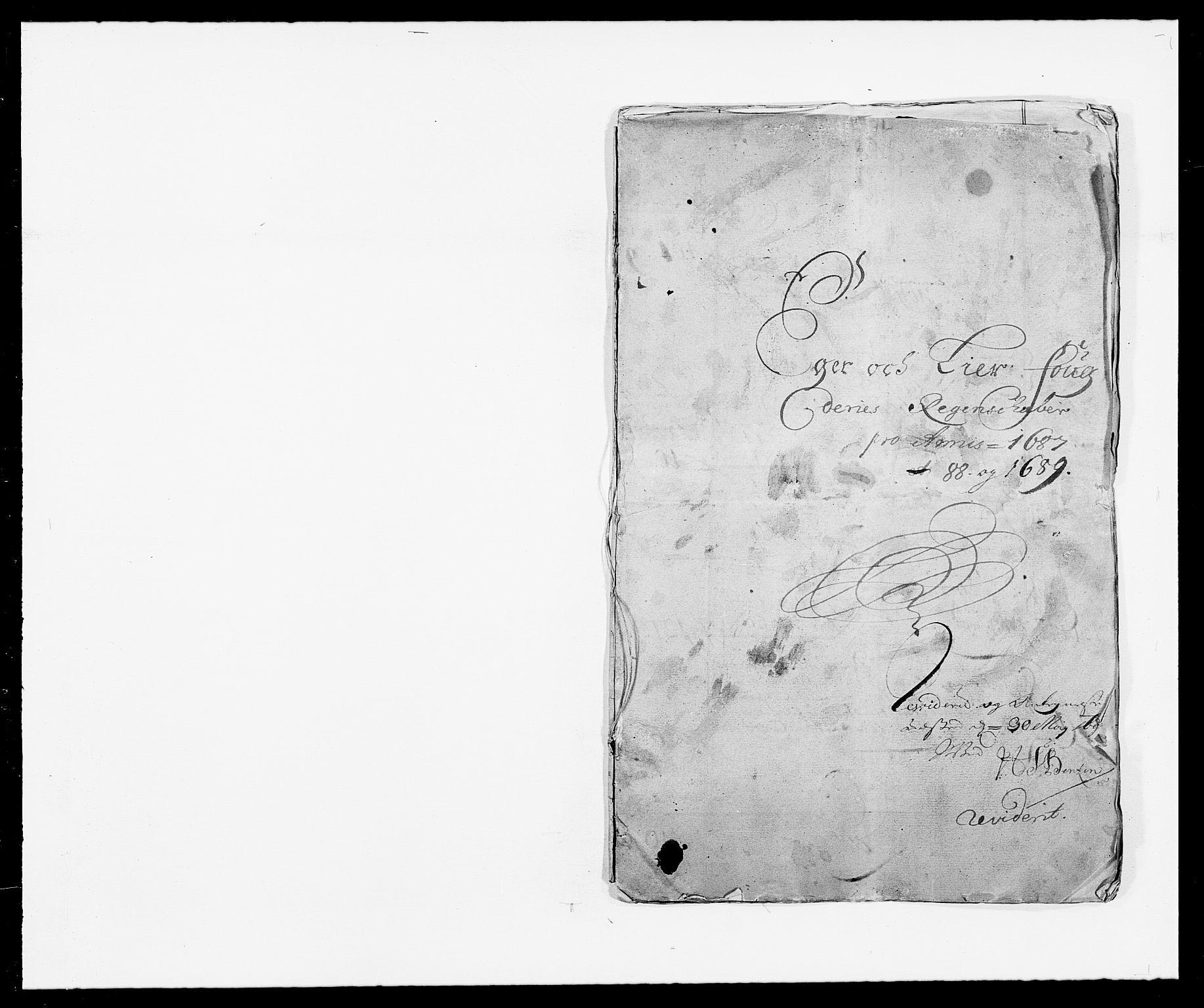 RA, Rentekammeret inntil 1814, Reviderte regnskaper, Fogderegnskap, R28/L1688: Fogderegnskap Eiker og Lier, 1687-1689, s. 2