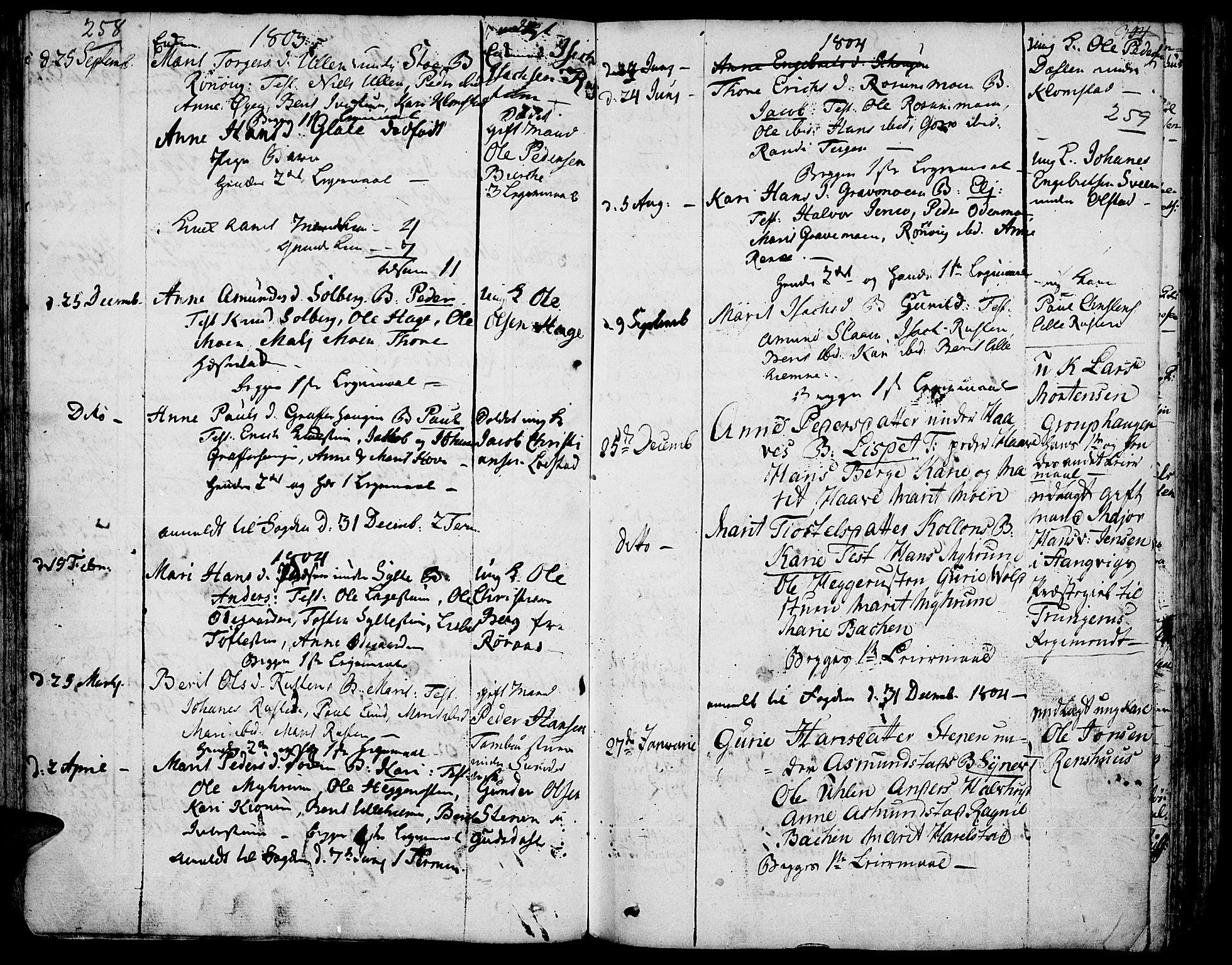 SAH, Fron prestekontor, H/Ha/Haa/L0001: Ministerialbok nr. 1, 1799-1816, s. 258-259