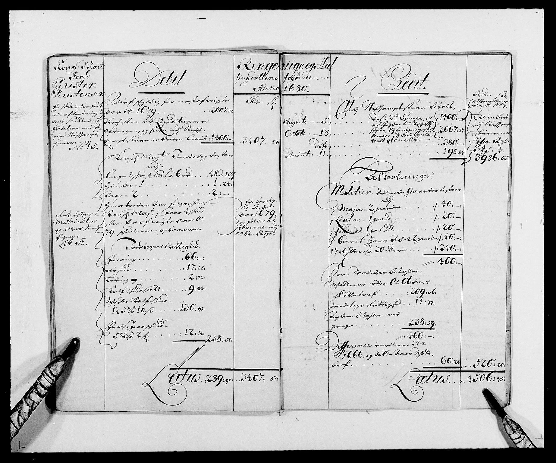 RA, Rentekammeret inntil 1814, Reviderte regnskaper, Fogderegnskap, R21/L1443: Fogderegnskap Ringerike og Hallingdal, 1678-1680, s. 21
