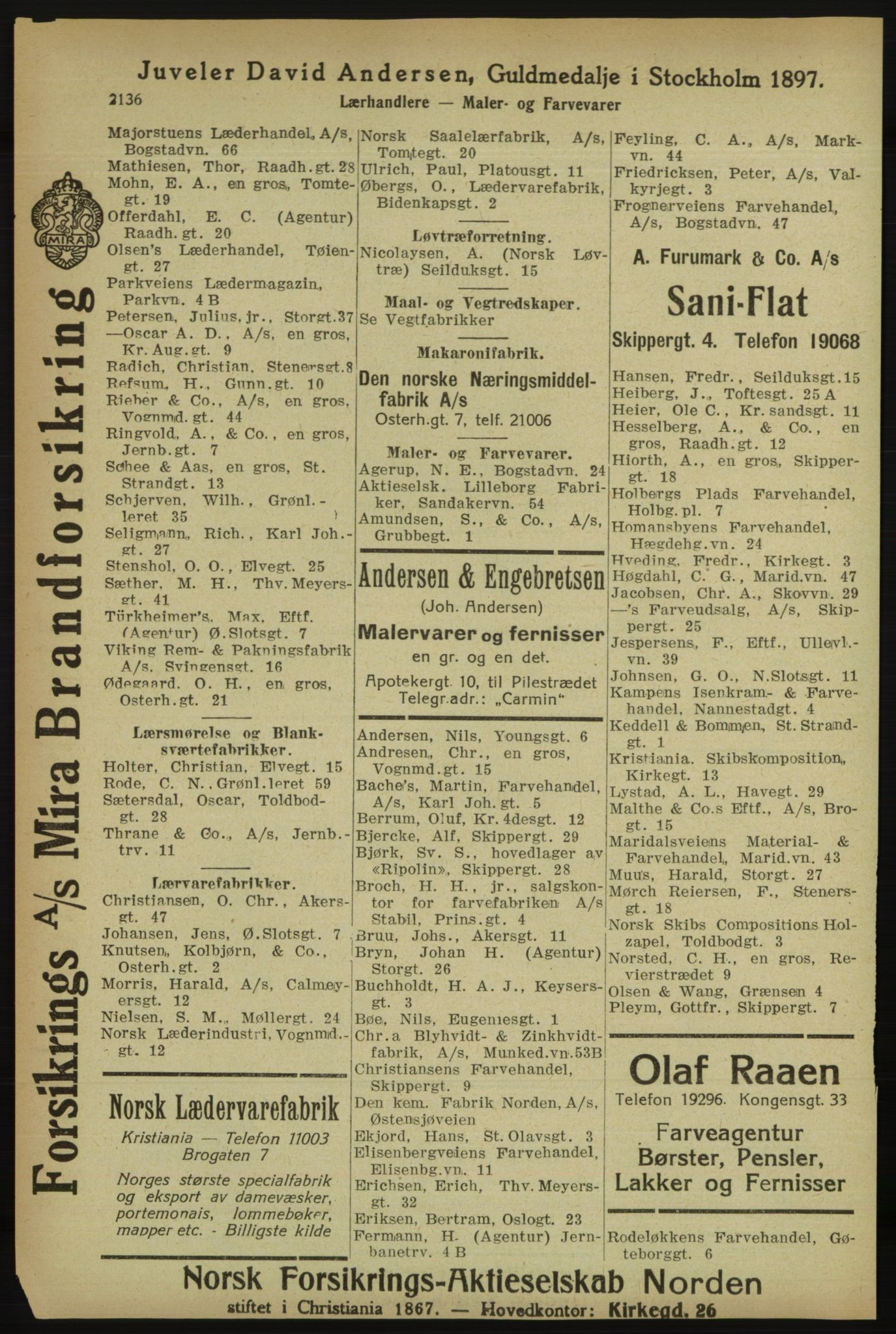 PUBL, Kristiania/Oslo adressebok, 1918, s. 2289