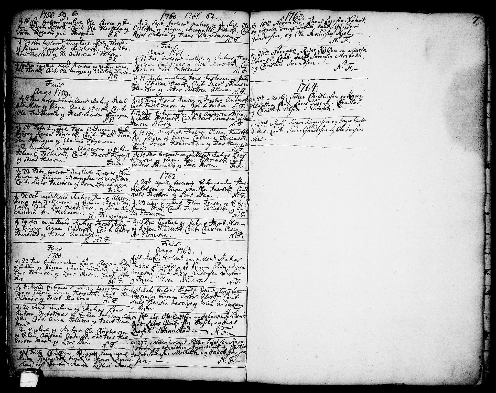 SAKO, Brevik kirkebøker, F/Fa/L0002: Ministerialbok nr. 2, 1720-1764, s. 7