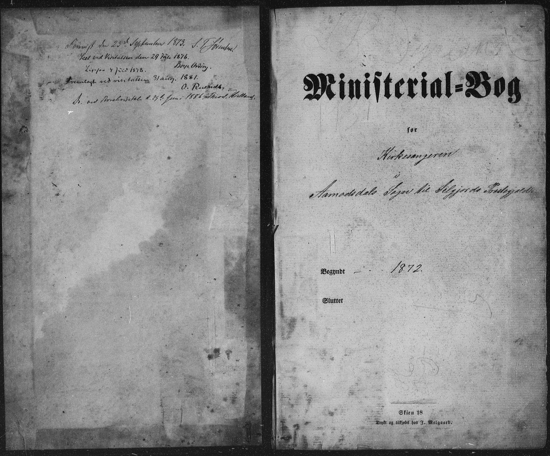 SAKO, Seljord kirkebøker, G/Gc/L0002: Klokkerbok nr. III 2, 1872-1886