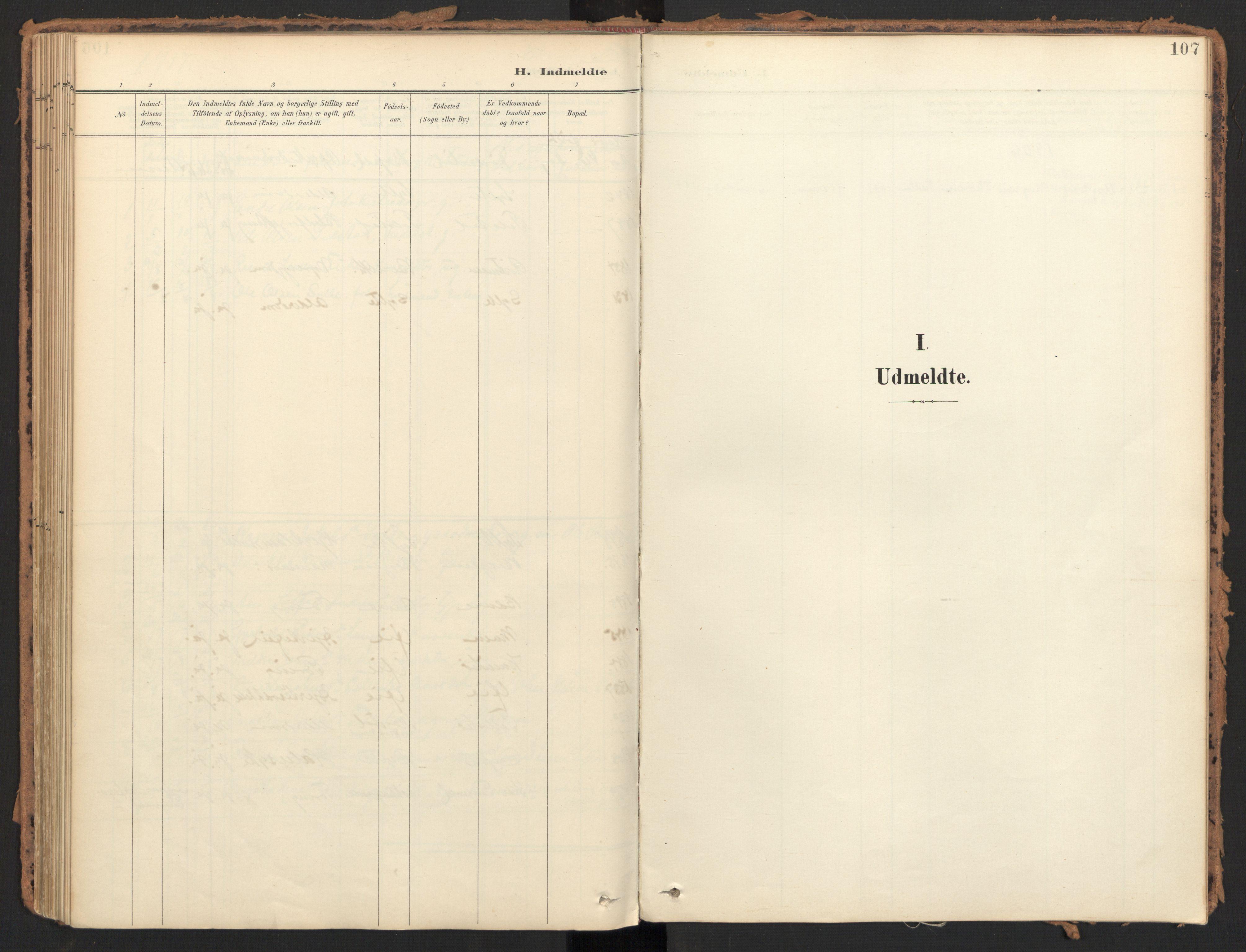 SAT, Ministerialprotokoller, klokkerbøker og fødselsregistre - Møre og Romsdal, 595/L1048: Ministerialbok nr. 595A10, 1900-1917, s. 107