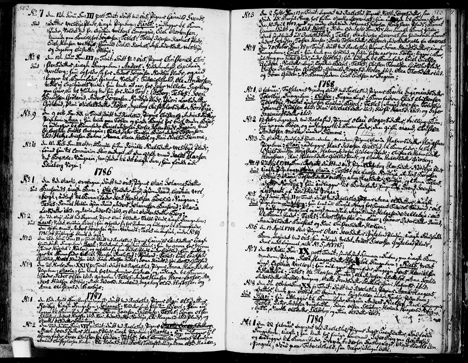 SAO, Rakkestad prestekontor Kirkebøker, F/Fa/L0005: Ministerialbok nr. I 5, 1784-1814, s. 502-503