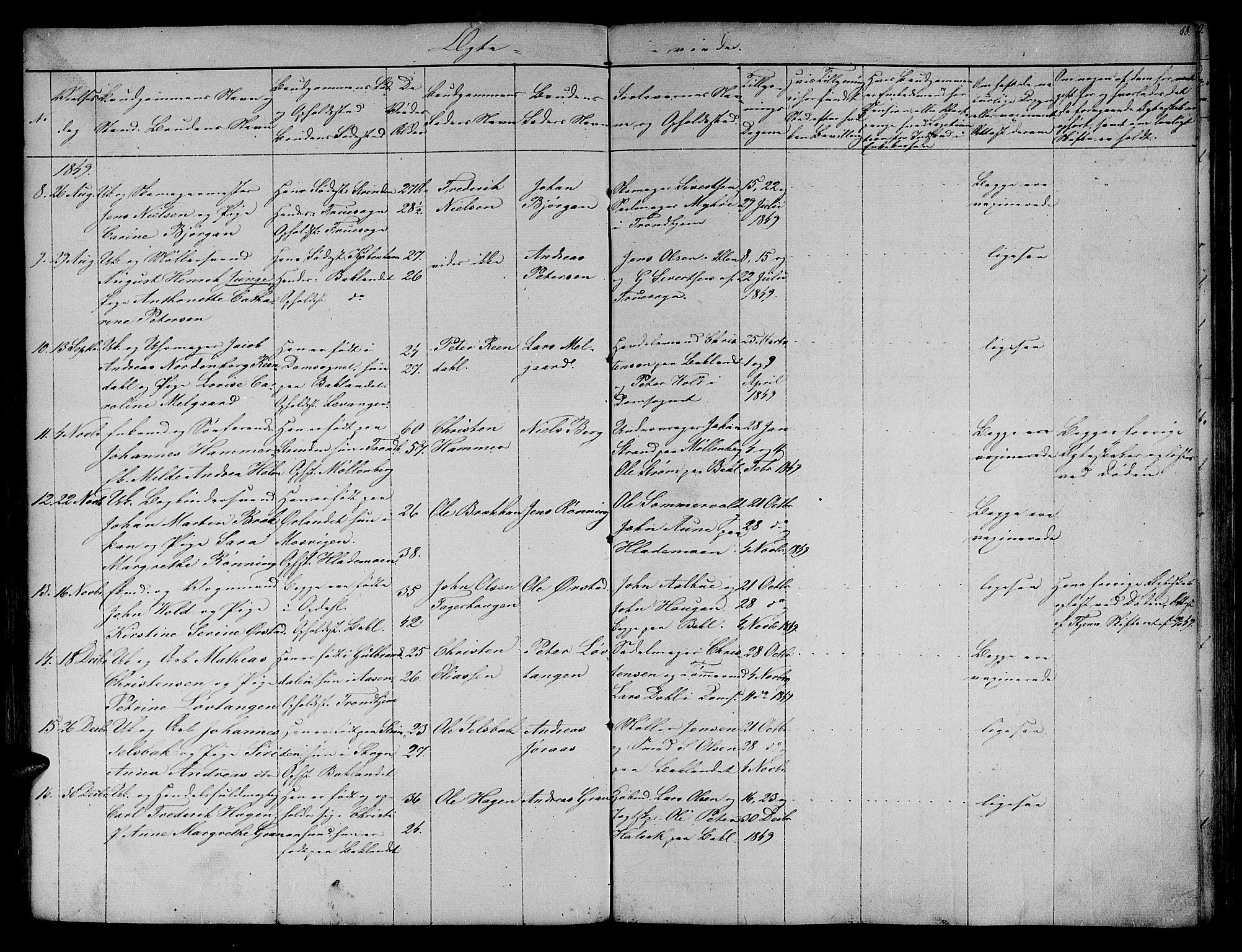 SAT, Ministerialprotokoller, klokkerbøker og fødselsregistre - Sør-Trøndelag, 604/L0182: Ministerialbok nr. 604A03, 1818-1850, s. 68