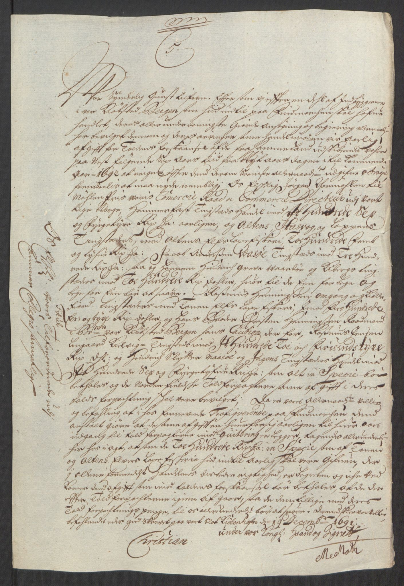 RA, Rentekammeret inntil 1814, Reviderte regnskaper, Fogderegnskap, R69/L4851: Fogderegnskap Finnmark/Vardøhus, 1691-1700, s. 171