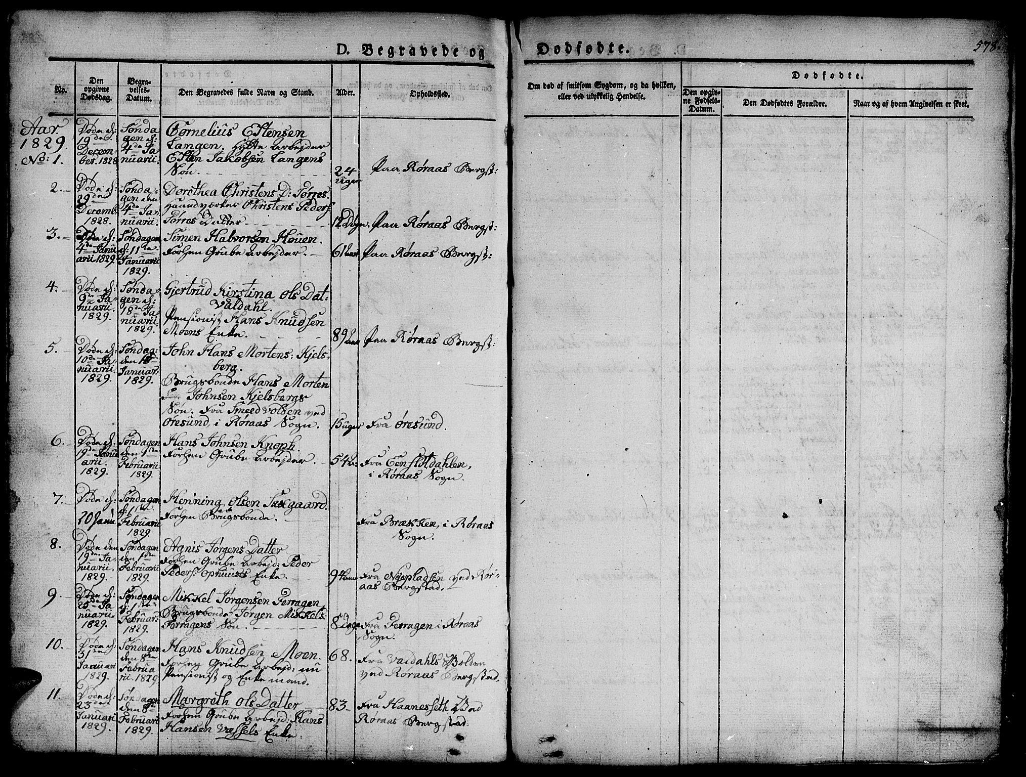 SAT, Ministerialprotokoller, klokkerbøker og fødselsregistre - Sør-Trøndelag, 681/L0939: Klokkerbok nr. 681C03, 1829-1855, s. 578