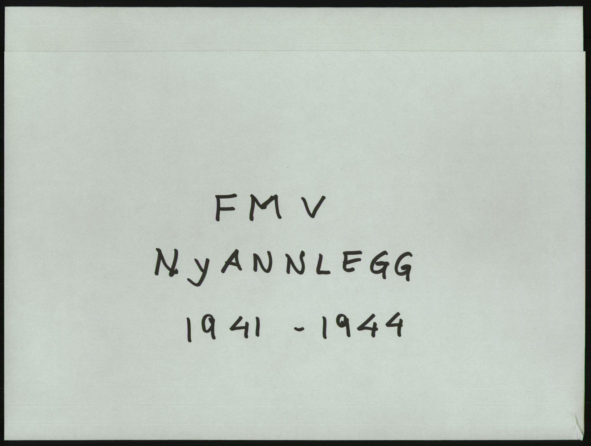 RA, Fredrikstad mekaniske verksted, Q/L0001: Bygninger, Finansiering, Takst, Nyanlegg, 1935-1954, s. 1