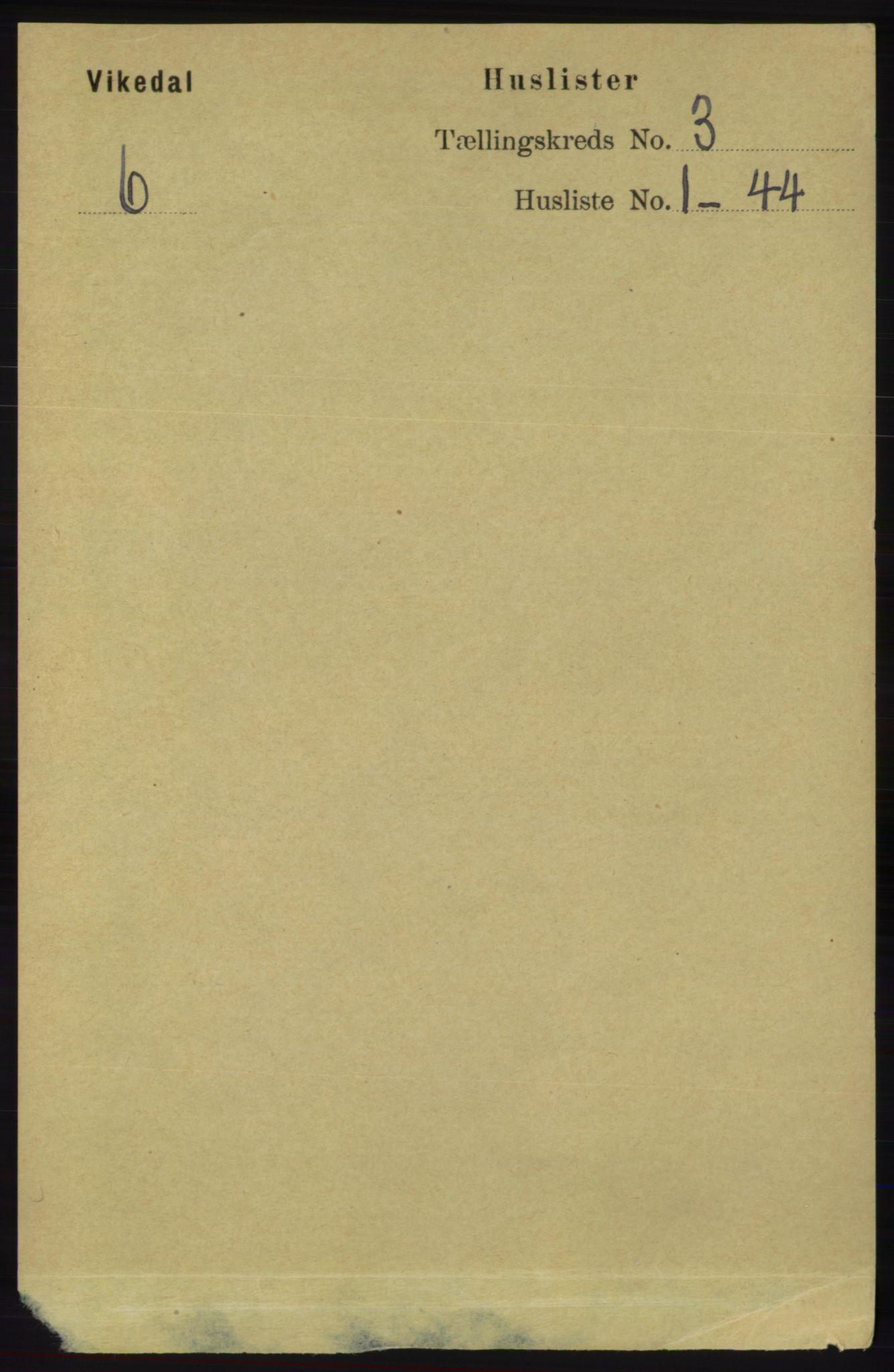 RA, Folketelling 1891 for 1157 Vikedal herred, 1891, s. 676