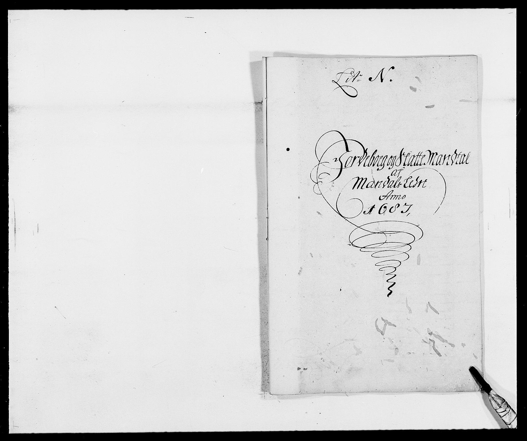 RA, Rentekammeret inntil 1814, Reviderte regnskaper, Fogderegnskap, R42/L2542: Mandal fogderi, 1685-1687, s. 174