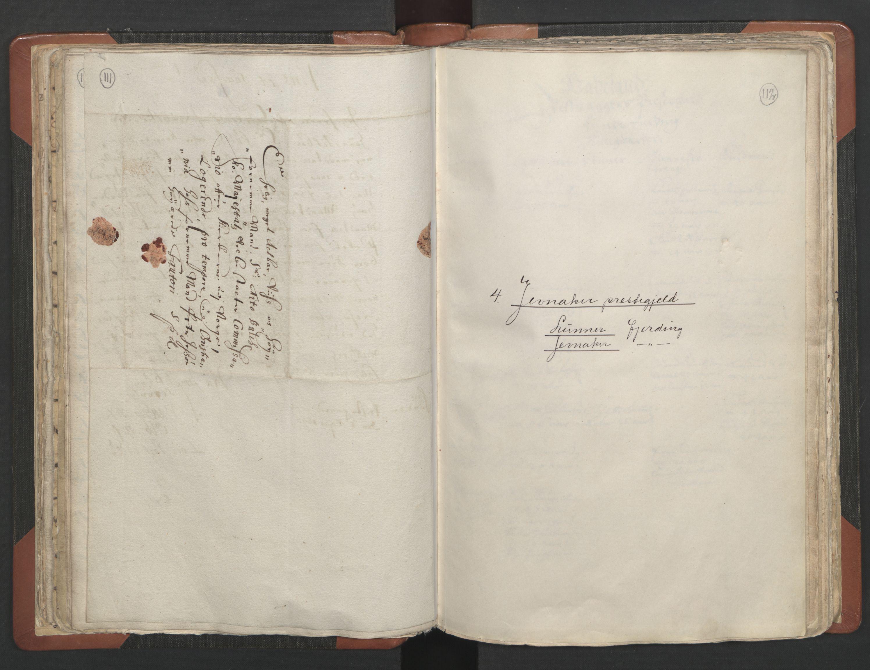 RA, Sogneprestenes manntall 1664-1666, nr. 7: Hadeland prosti, 1664-1666, s. 111-112