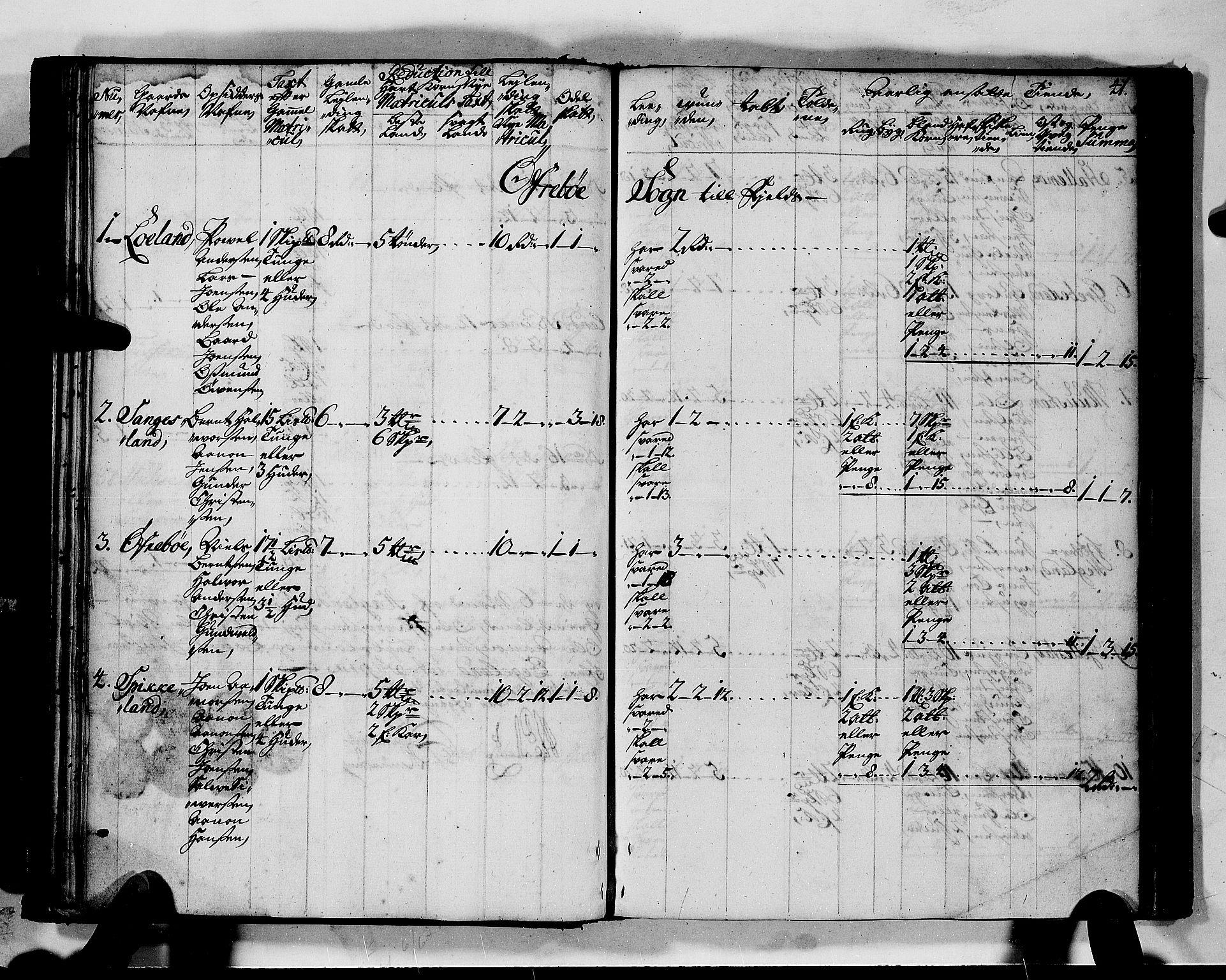 RA, Rentekammeret inntil 1814, Realistisk ordnet avdeling, N/Nb/Nbf/L0128: Mandal matrikkelprotokoll, 1723, s. 40b-41a