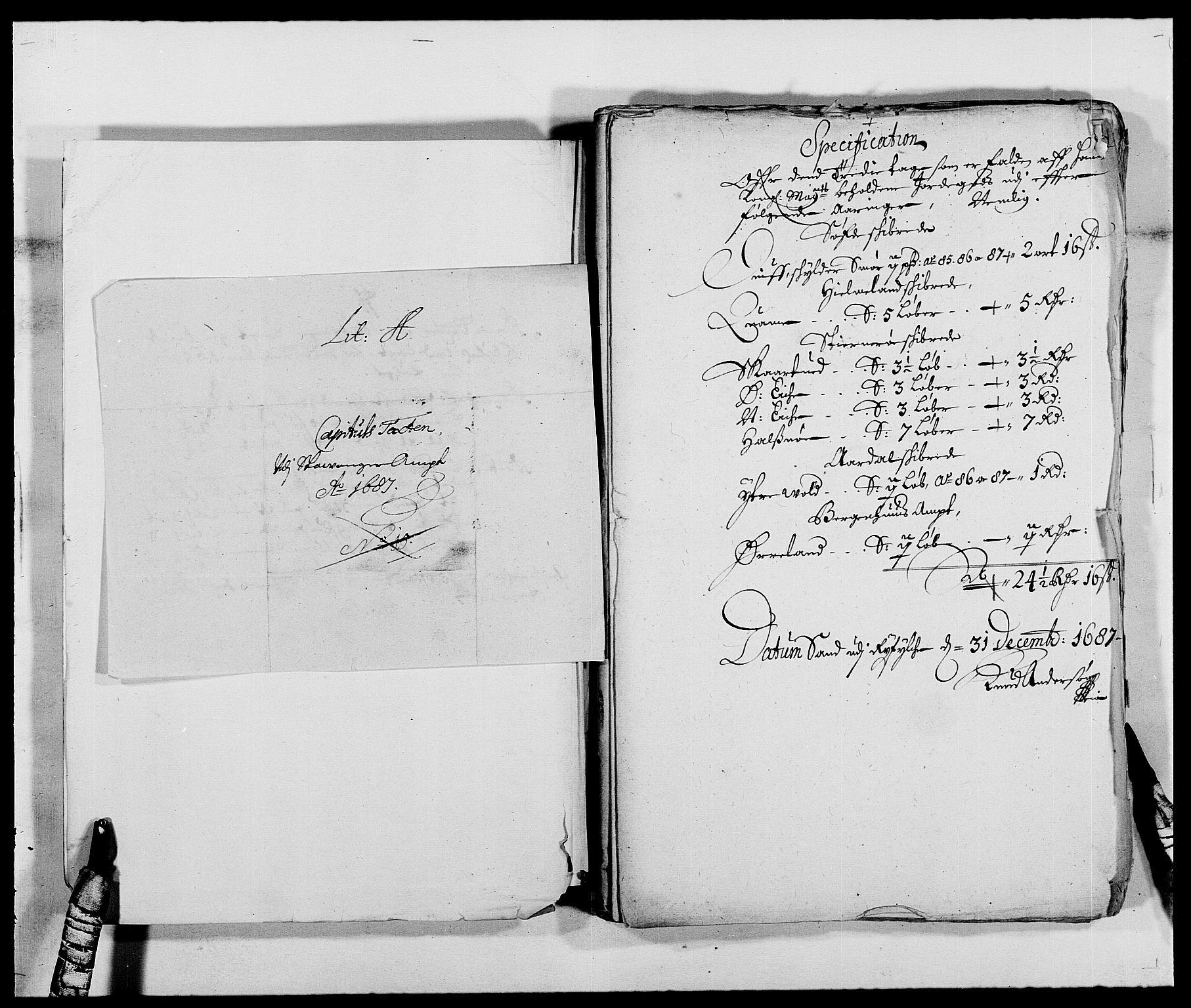 RA, Rentekammeret inntil 1814, Reviderte regnskaper, Fogderegnskap, R47/L2855: Fogderegnskap Ryfylke, 1685-1688, s. 236
