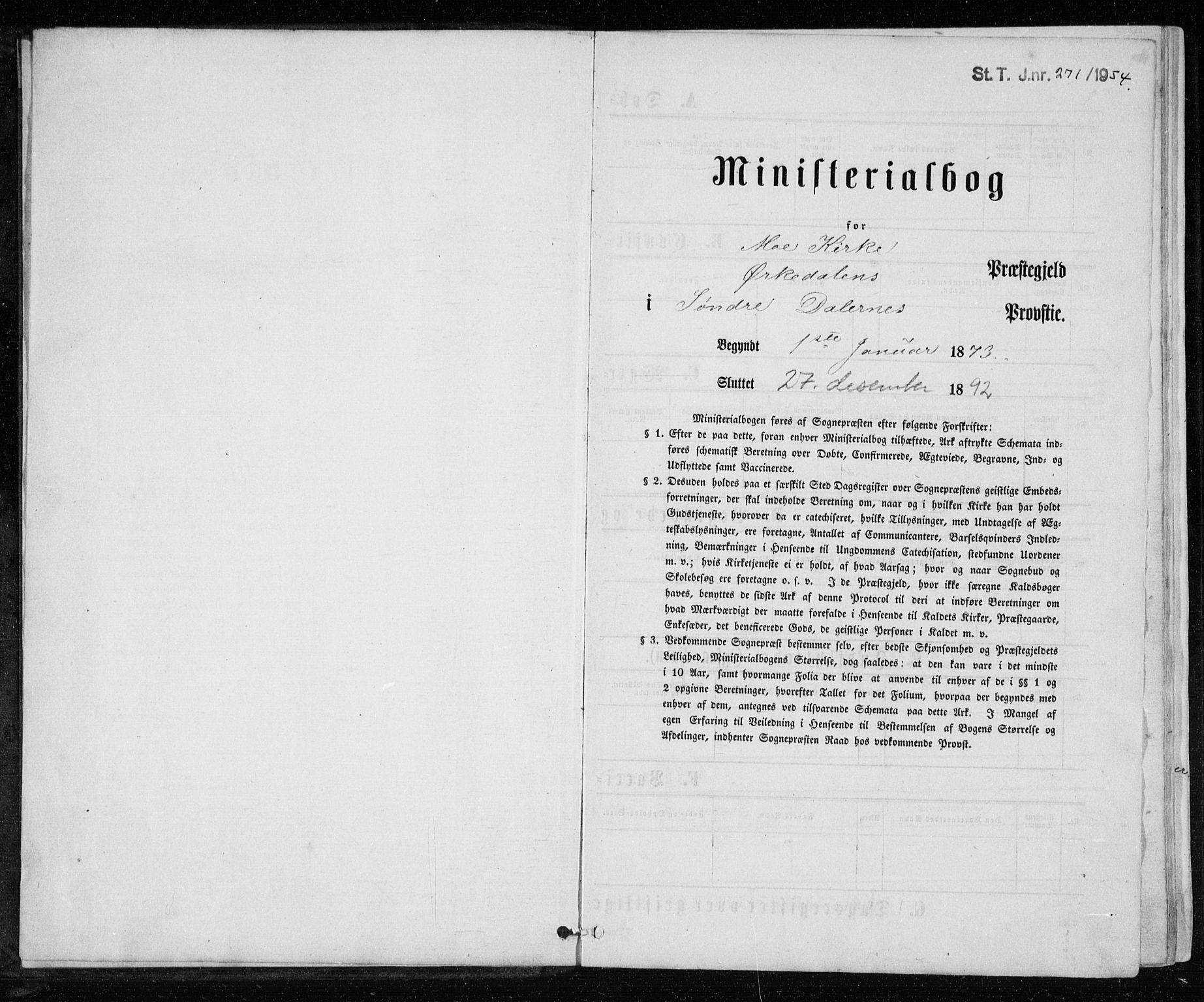 SAT, Ministerialprotokoller, klokkerbøker og fødselsregistre - Sør-Trøndelag, 671/L0843: Klokkerbok nr. 671C02, 1873-1892