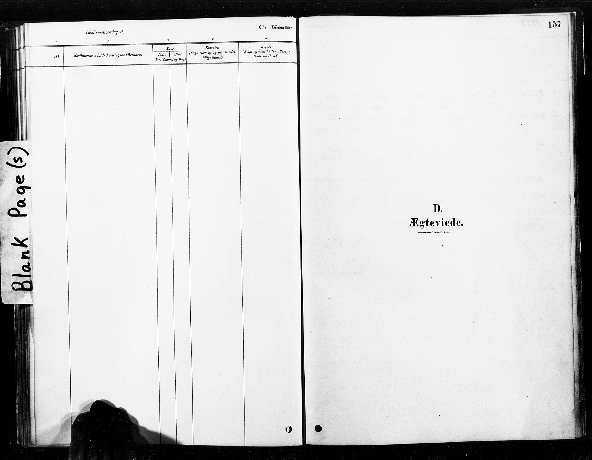 SAT, Ministerialprotokoller, klokkerbøker og fødselsregistre - Nord-Trøndelag, 789/L0705: Ministerialbok nr. 789A01, 1878-1910, s. 157