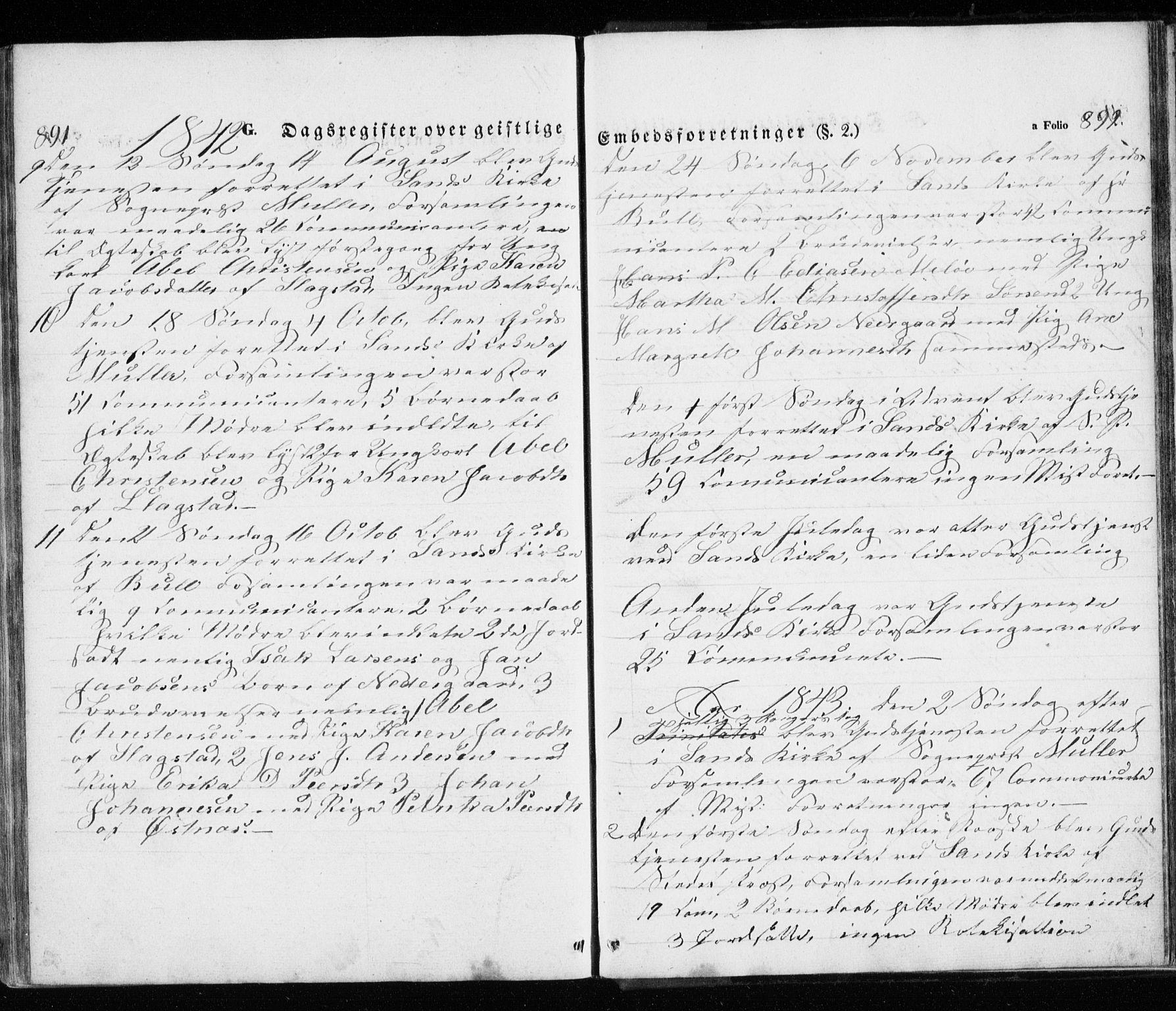 SATØ, Trondenes sokneprestkontor, H/Ha/L0010kirke: Ministerialbok nr. 10, 1840-1865, s. 891-892
