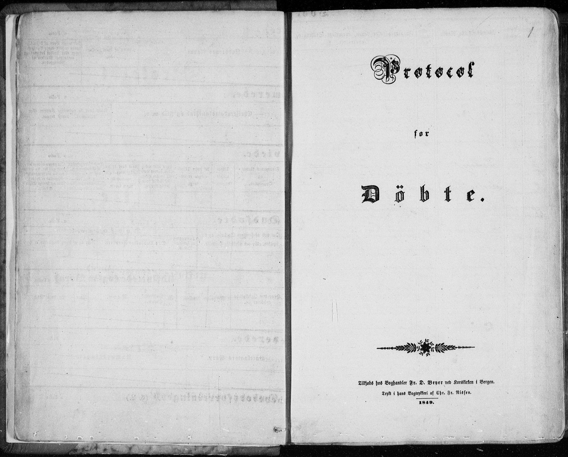 SAB, Sund sokneprestembete, Ministerialbok nr. A 14, 1850-1866, s. 1