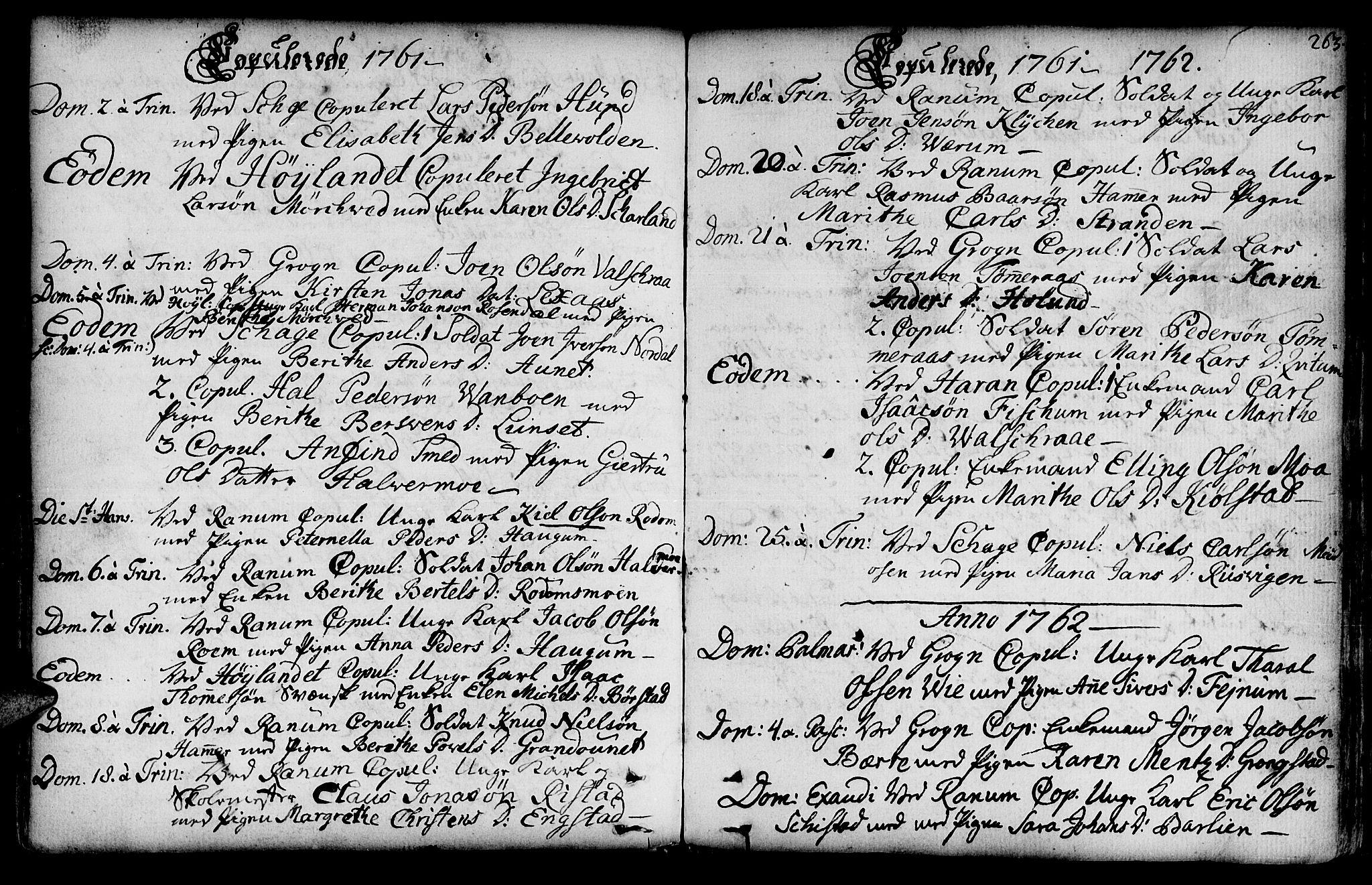 SAT, Ministerialprotokoller, klokkerbøker og fødselsregistre - Nord-Trøndelag, 764/L0542: Ministerialbok nr. 764A02, 1748-1779, s. 263