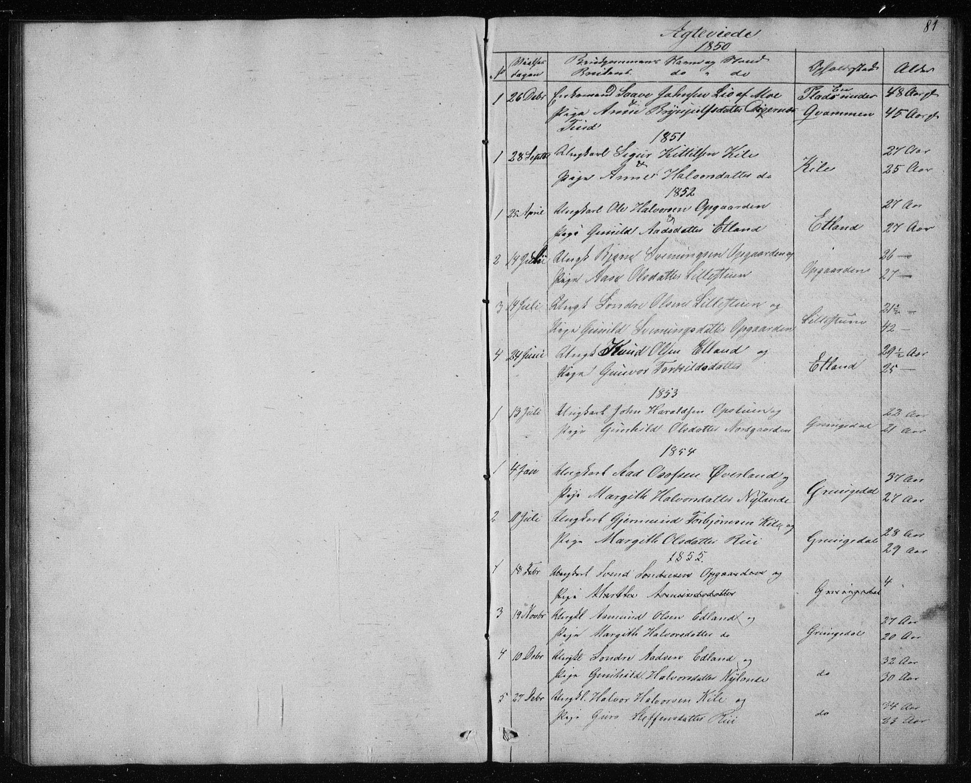SAKO, Vinje kirkebøker, G/Gc/L0001: Klokkerbok nr. III 1, 1850-1893, s. 81