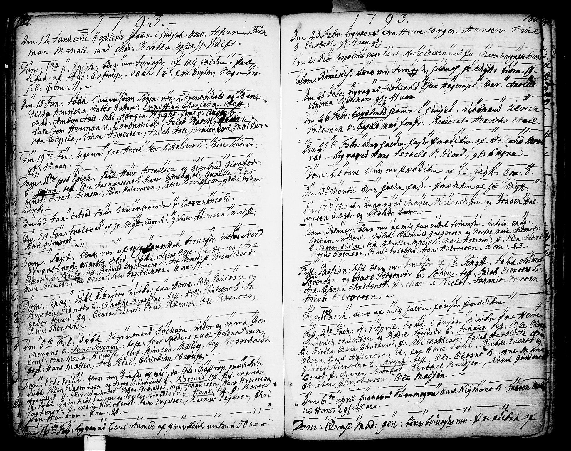 SAKO, Porsgrunn kirkebøker , F/Fa/L0002: Ministerialbok nr. 2, 1764-1814, s. 182-183