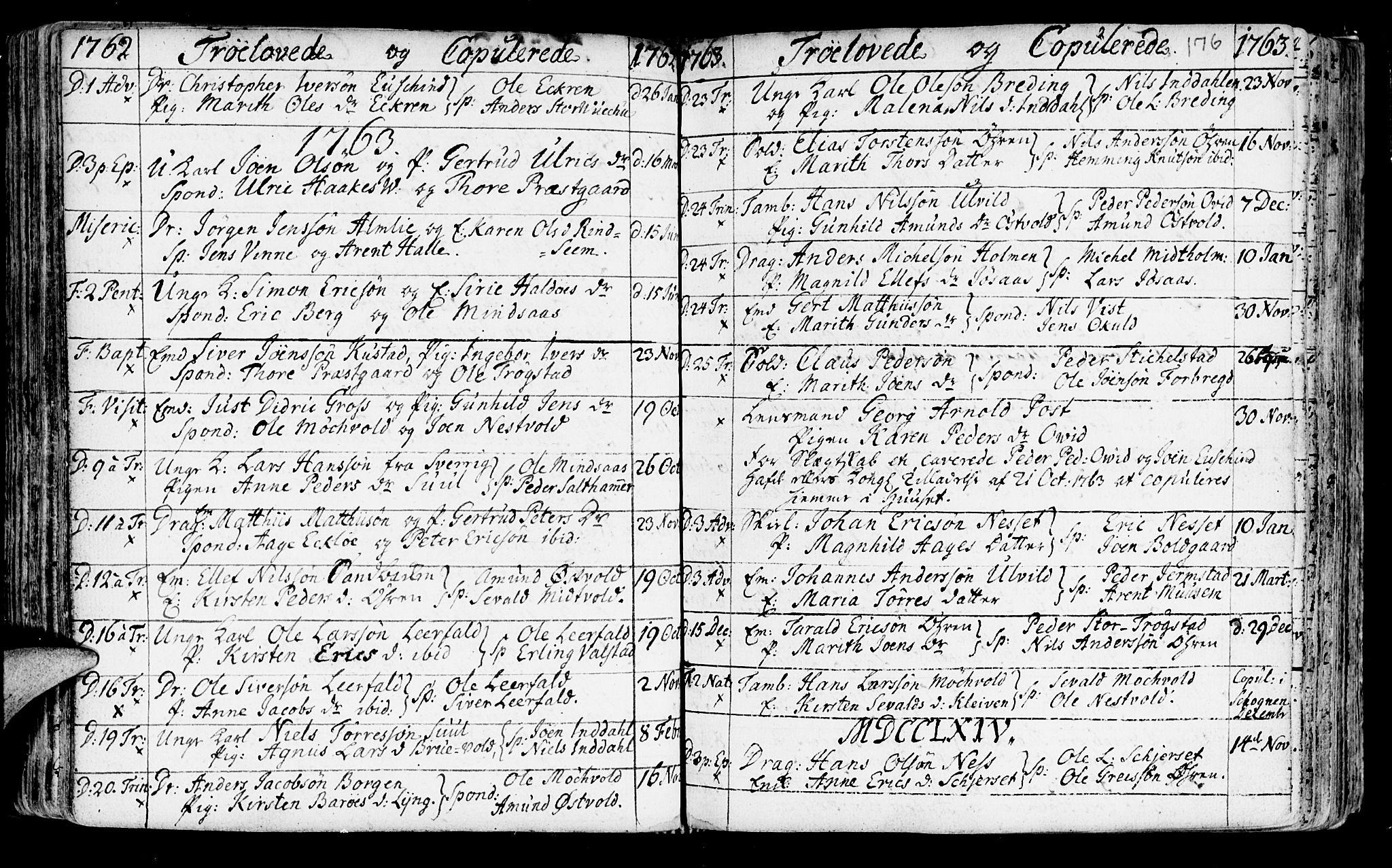 SAT, Ministerialprotokoller, klokkerbøker og fødselsregistre - Nord-Trøndelag, 723/L0231: Ministerialbok nr. 723A02, 1748-1780, s. 176