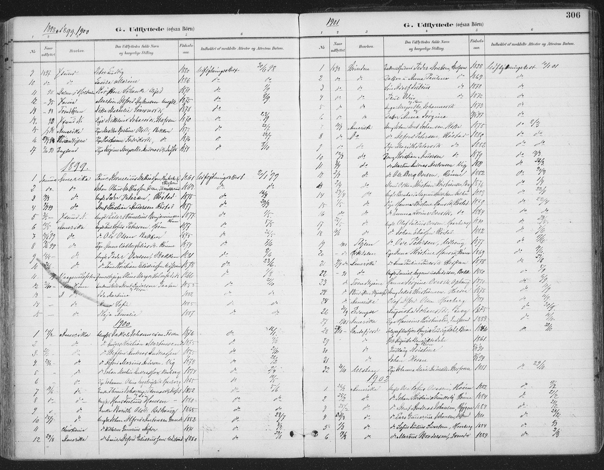 SAT, Ministerialprotokoller, klokkerbøker og fødselsregistre - Sør-Trøndelag, 659/L0743: Ministerialbok nr. 659A13, 1893-1910, s. 306