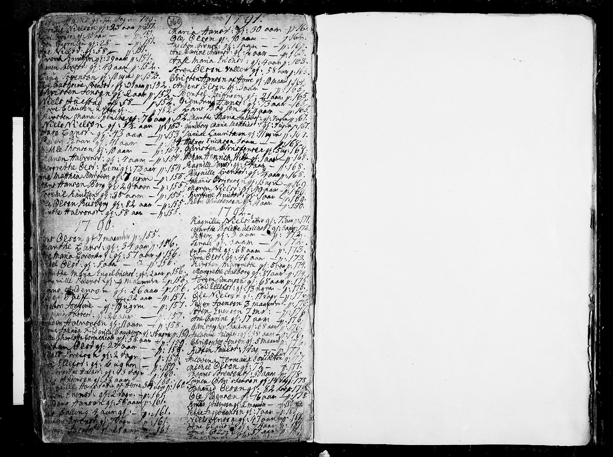 SAKO, Porsgrunn kirkebøker , F/Fa/L0002: Ministerialbok nr. 2, 1764-1814, s. 360-361