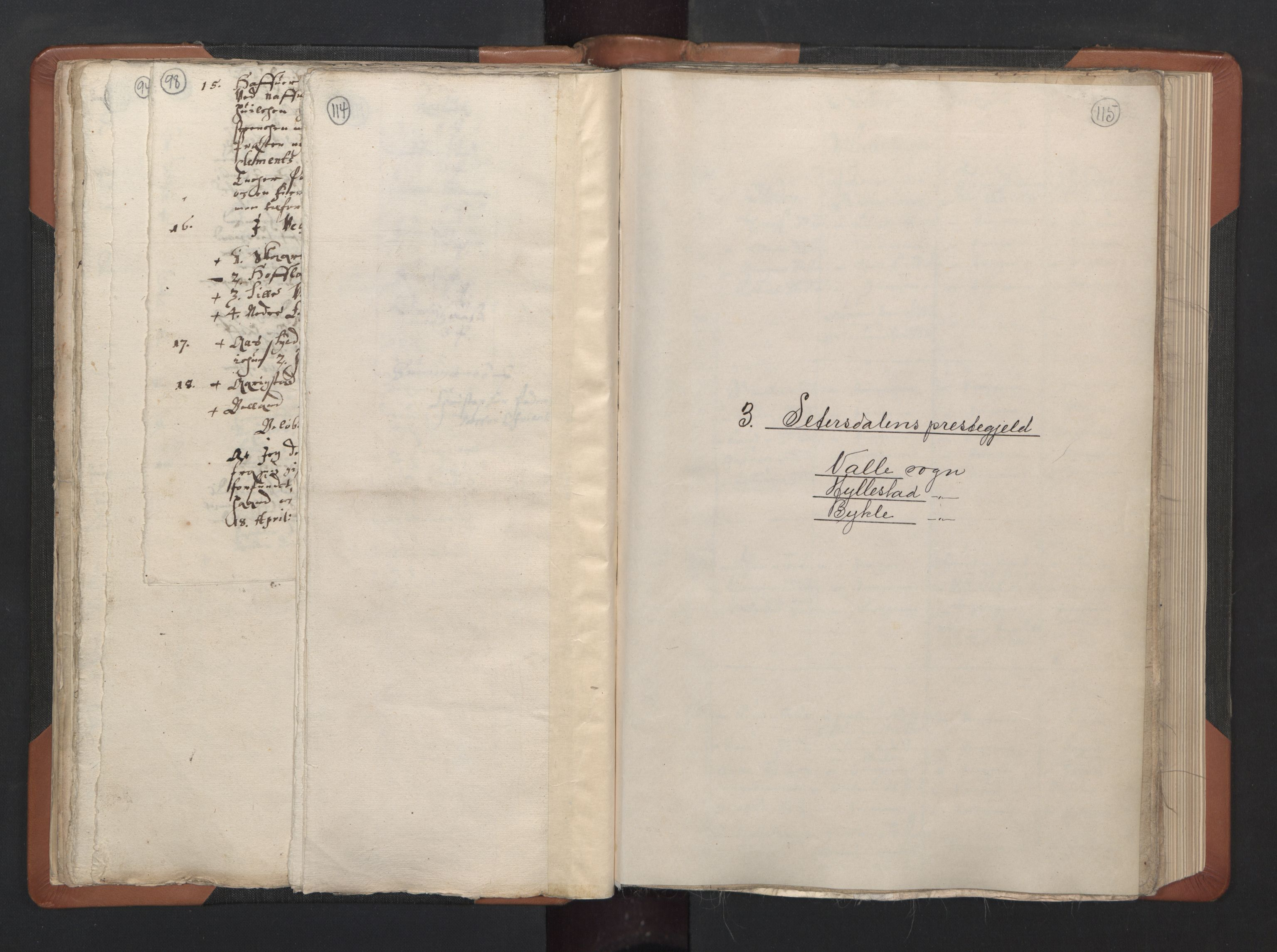 RA, Sogneprestenes manntall 1664-1666, nr. 14: Råbyggelag prosti, 1664-1666, s. 114-115