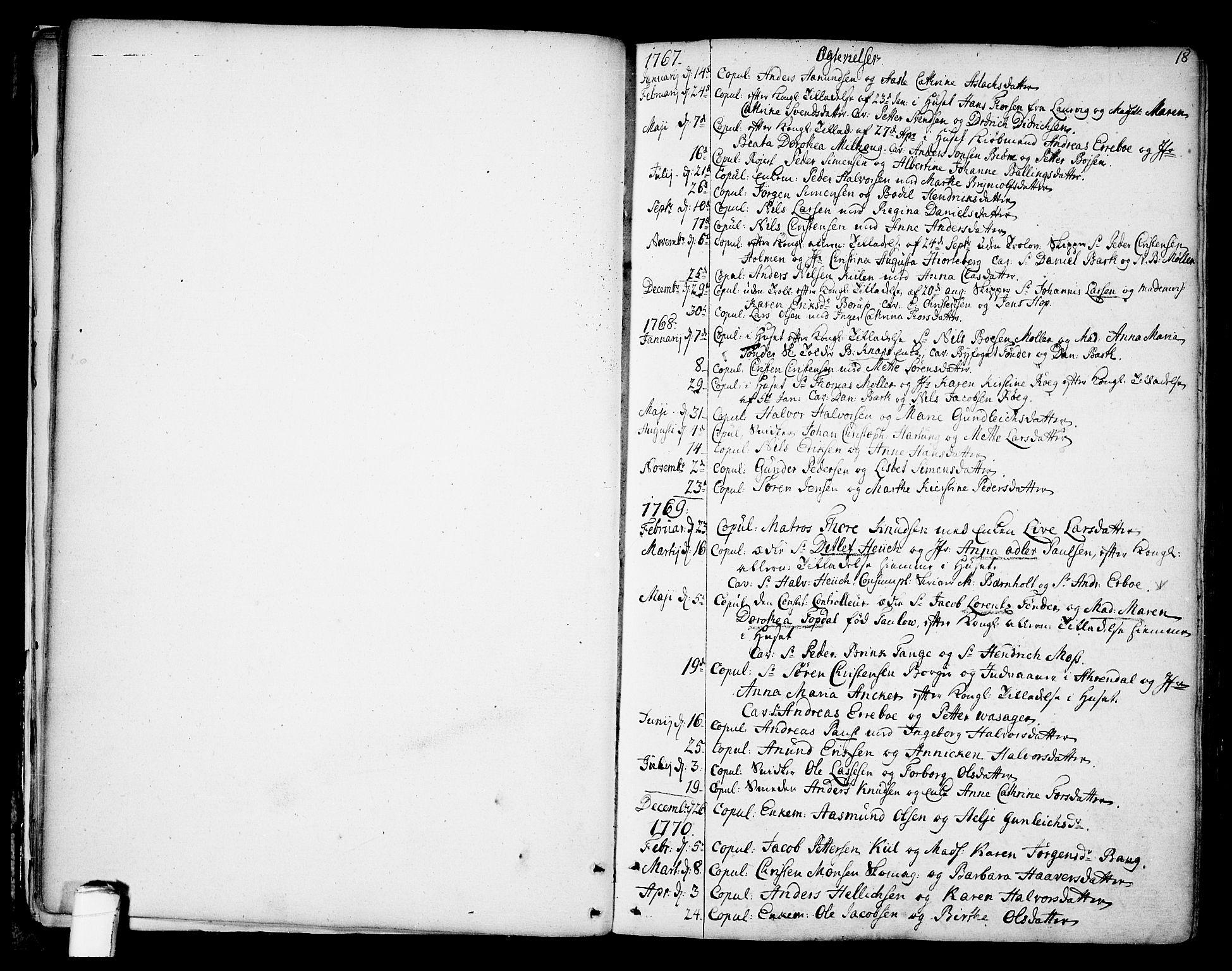 SAKO, Kragerø kirkebøker, F/Fa/L0002: Ministerialbok nr. 2, 1767-1802, s. 18
