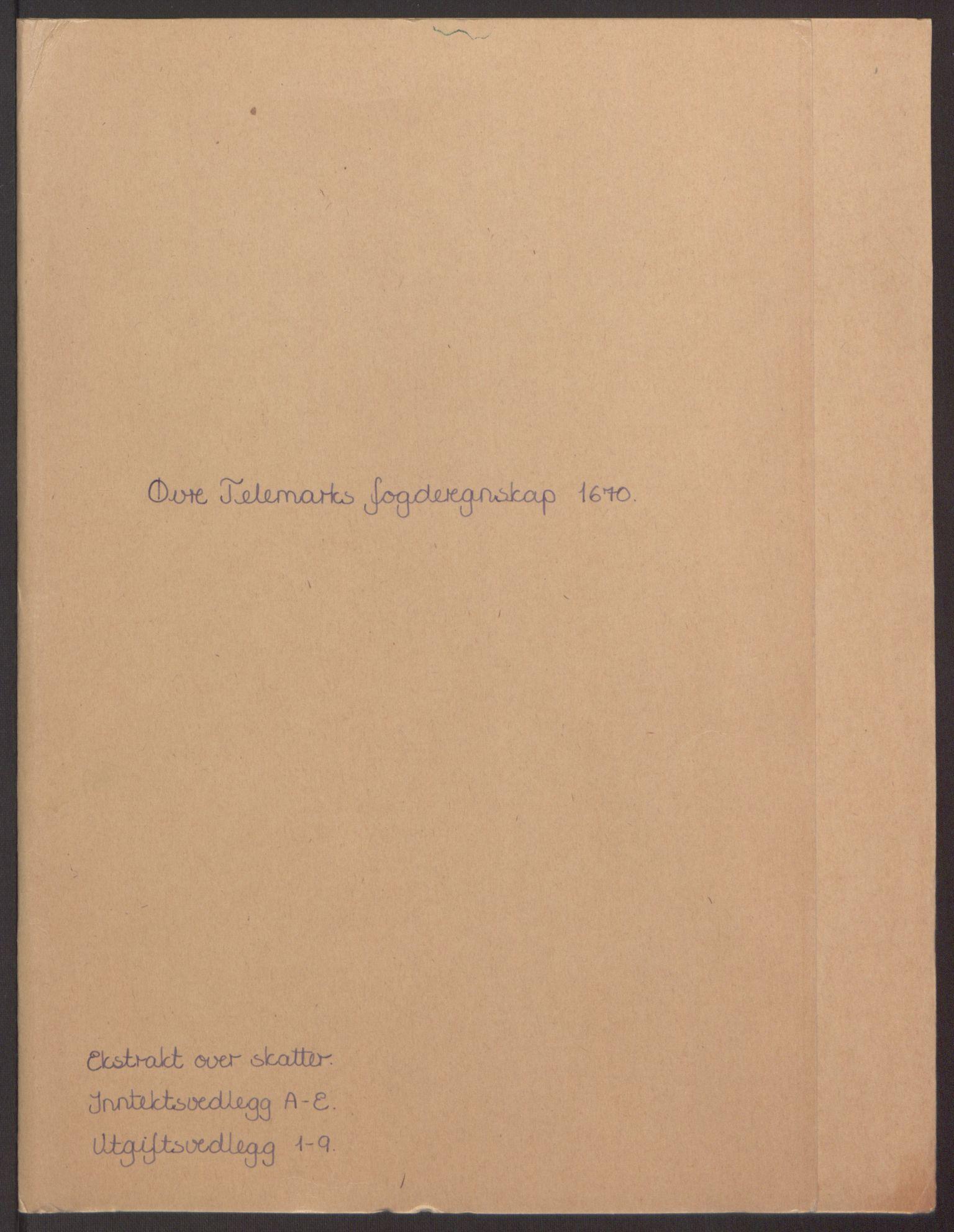 RA, Rentekammeret inntil 1814, Reviderte regnskaper, Fogderegnskap, R35/L2059: Fogderegnskap Øvre og Nedre Telemark, 1668-1670, s. 85