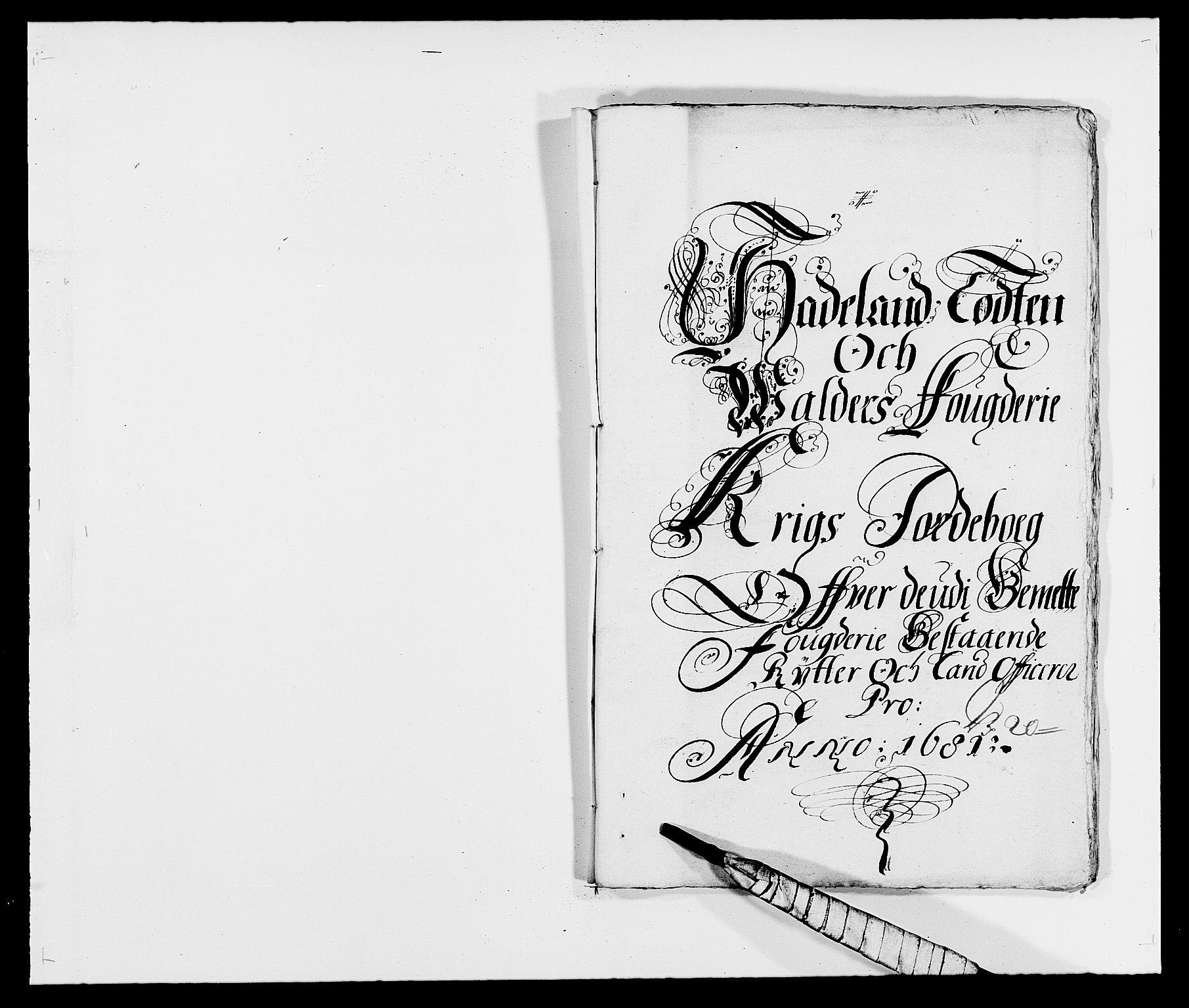 RA, Rentekammeret inntil 1814, Reviderte regnskaper, Fogderegnskap, R18/L1279: Fogderegnskap Hadeland, Toten og Valdres, 1681, s. 167