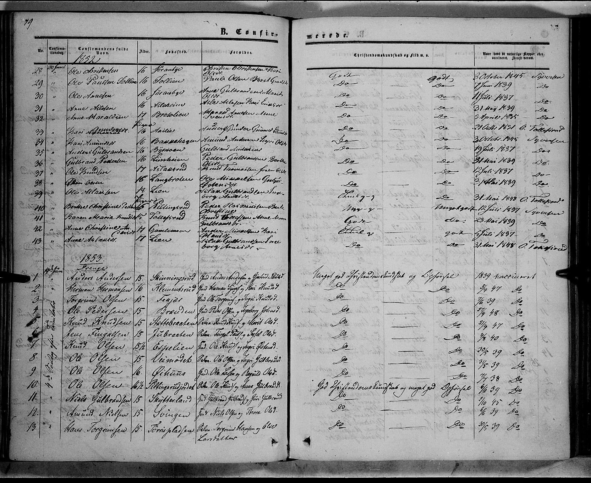 SAH, Sør-Aurdal prestekontor, Ministerialbok nr. 7, 1849-1876, s. 79