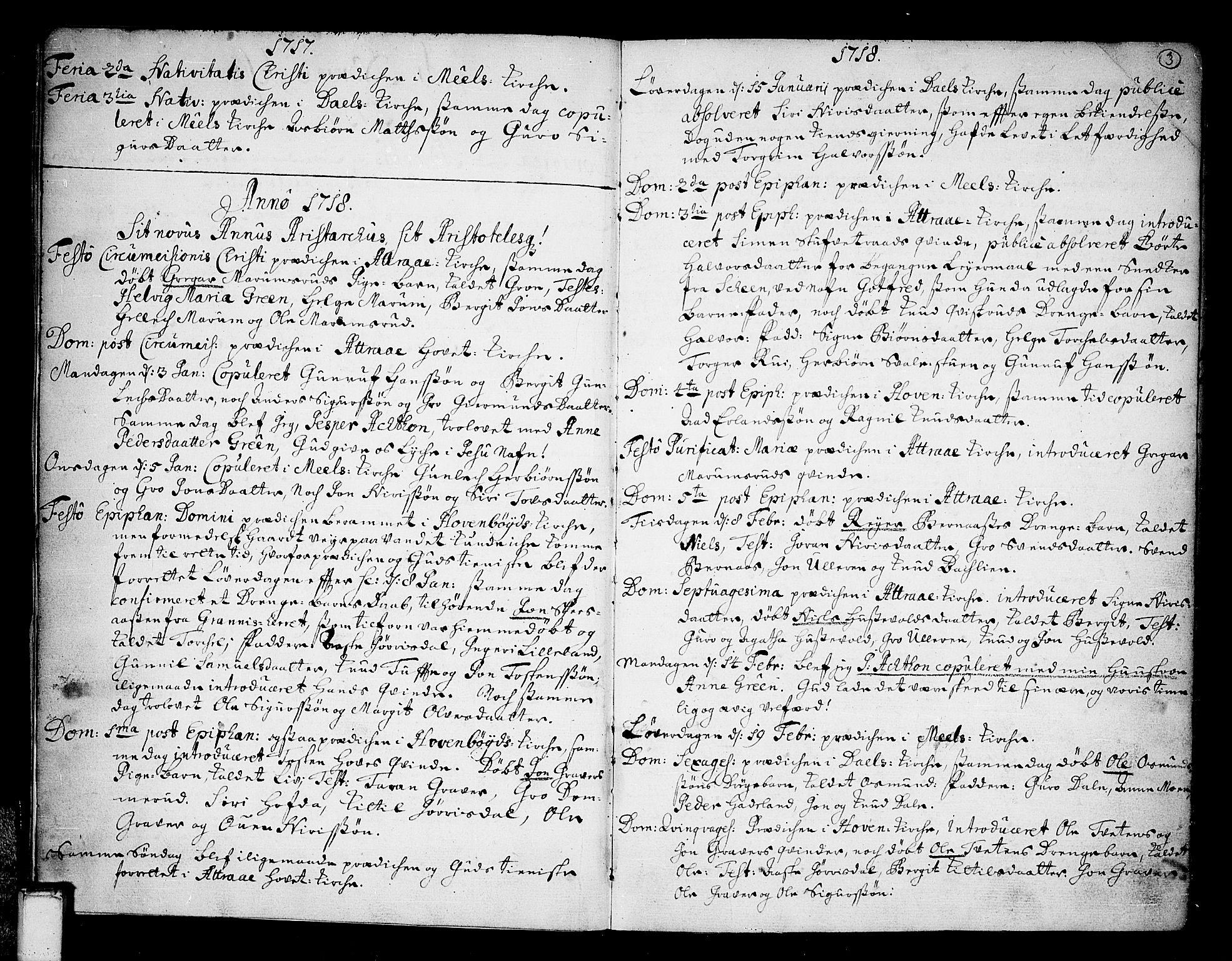 SAKO, Tinn kirkebøker, F/Fa/L0001: Ministerialbok nr. I 1, 1717-1734, s. 3
