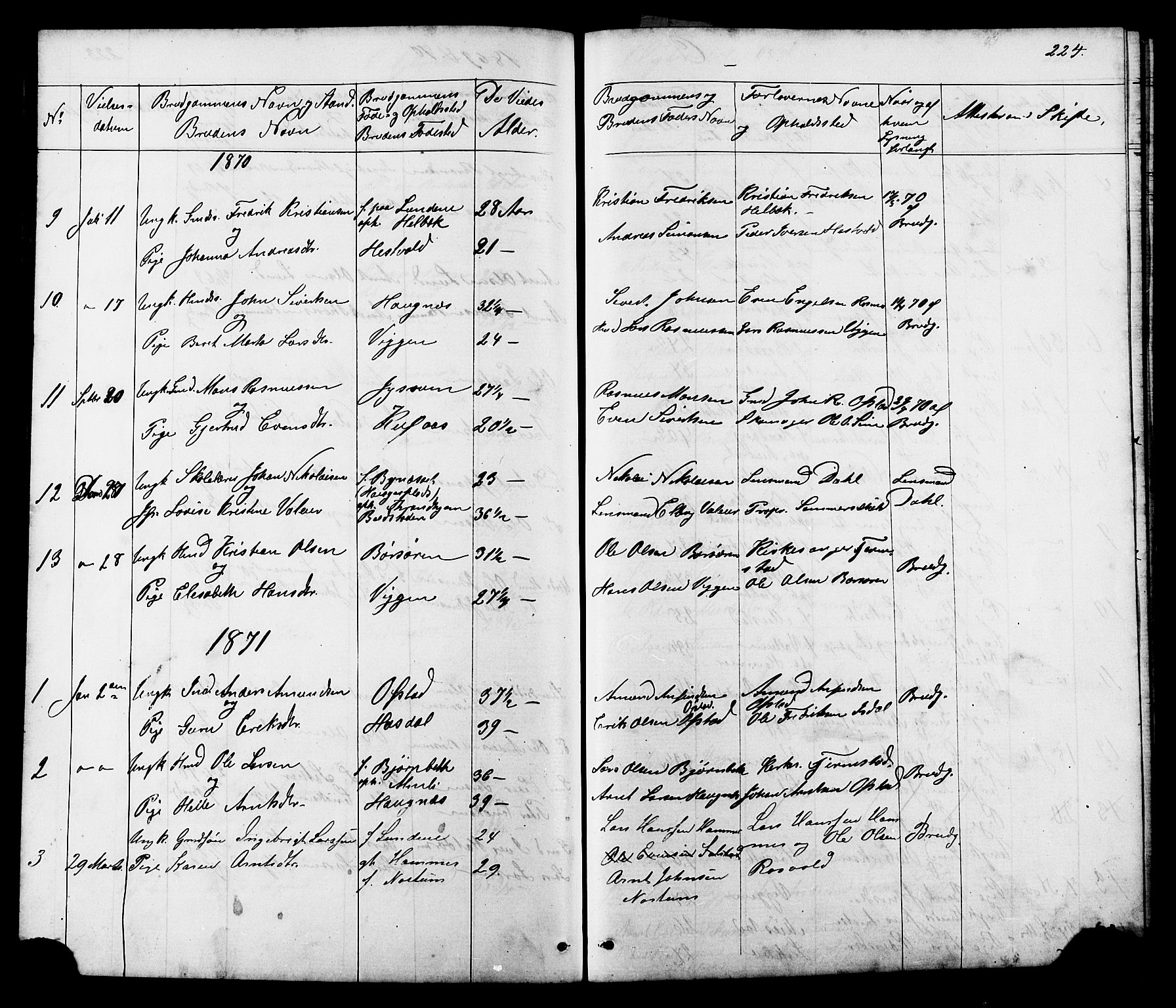 SAT, Ministerialprotokoller, klokkerbøker og fødselsregistre - Sør-Trøndelag, 665/L0777: Klokkerbok nr. 665C02, 1867-1915, s. 224