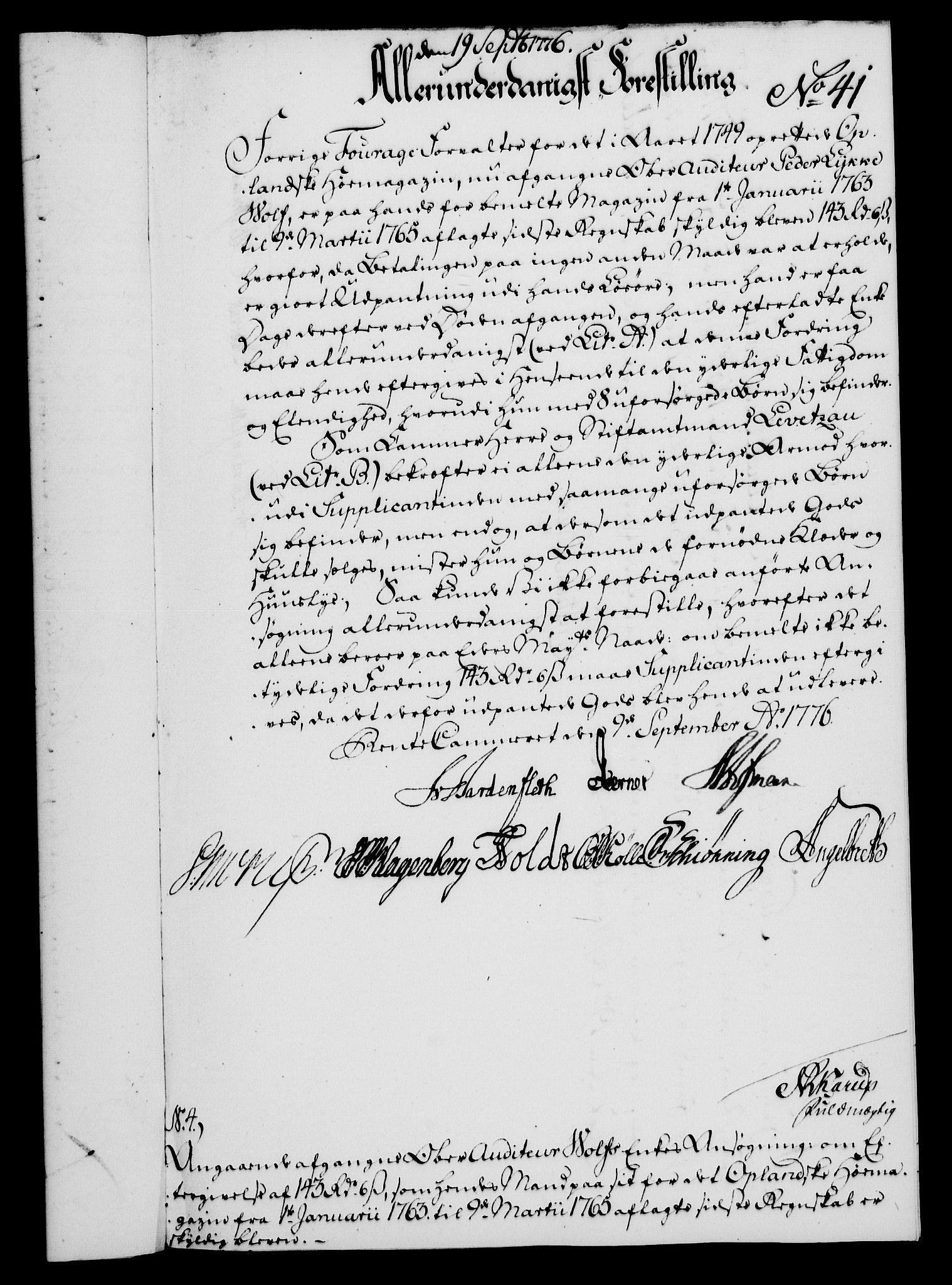 RA, Rentekammeret, Kammerkanselliet, G/Gf/Gfa/L0058: Norsk relasjons- og resolusjonsprotokoll (merket RK 52.58), 1776, s. 167