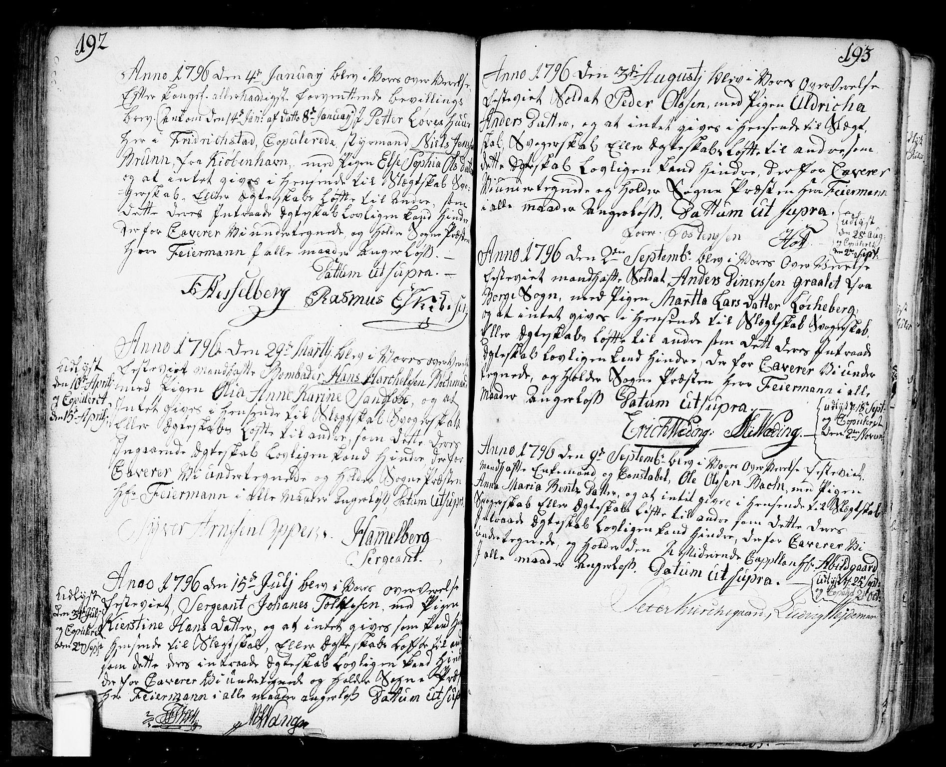 SAO, Fredrikstad prestekontor Kirkebøker, F/Fa/L0002: Ministerialbok nr. 2, 1750-1804, s. 192-193