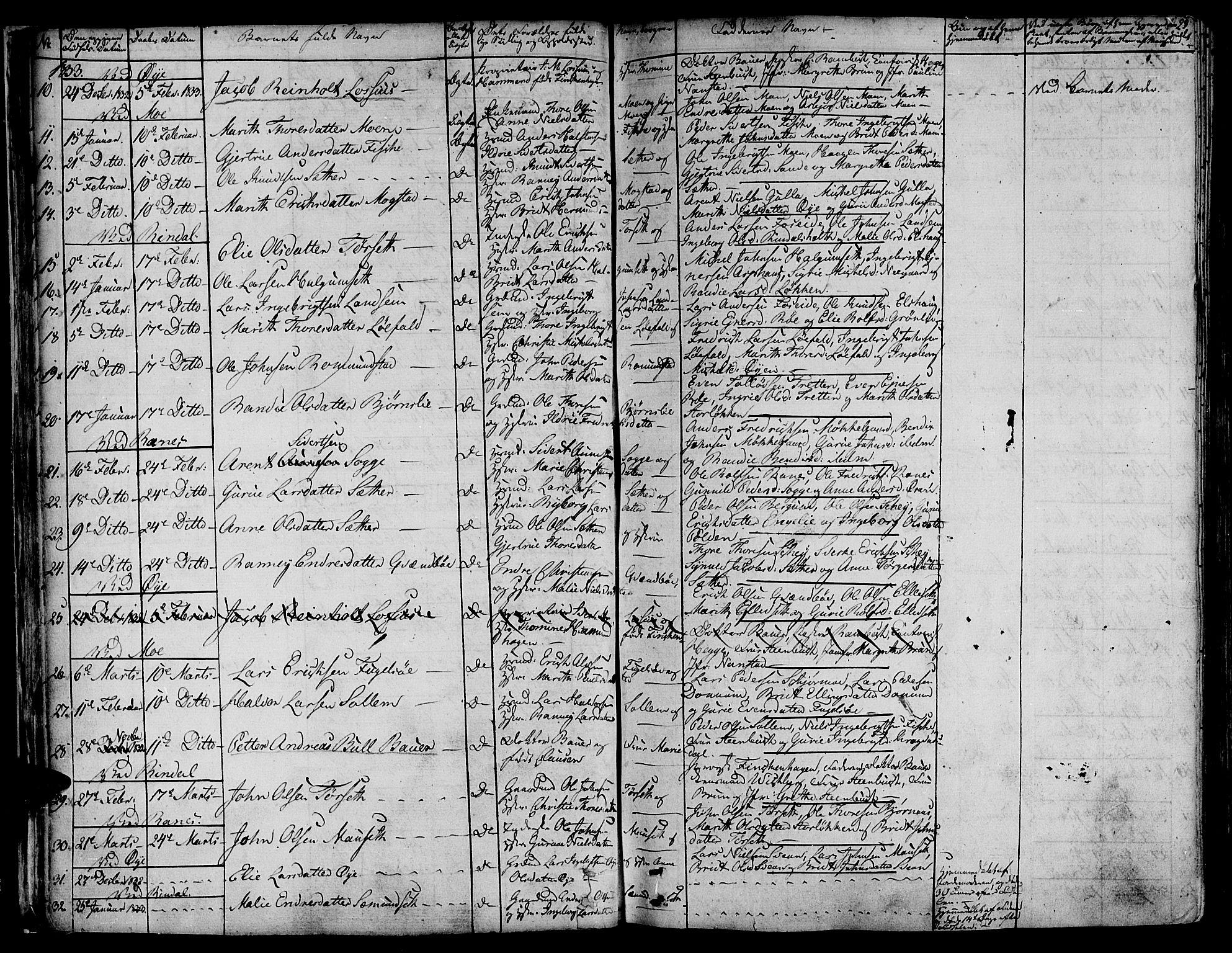 SAT, Ministerialprotokoller, klokkerbøker og fødselsregistre - Møre og Romsdal, 595/L1042: Ministerialbok nr. 595A04, 1829-1843, s. 23