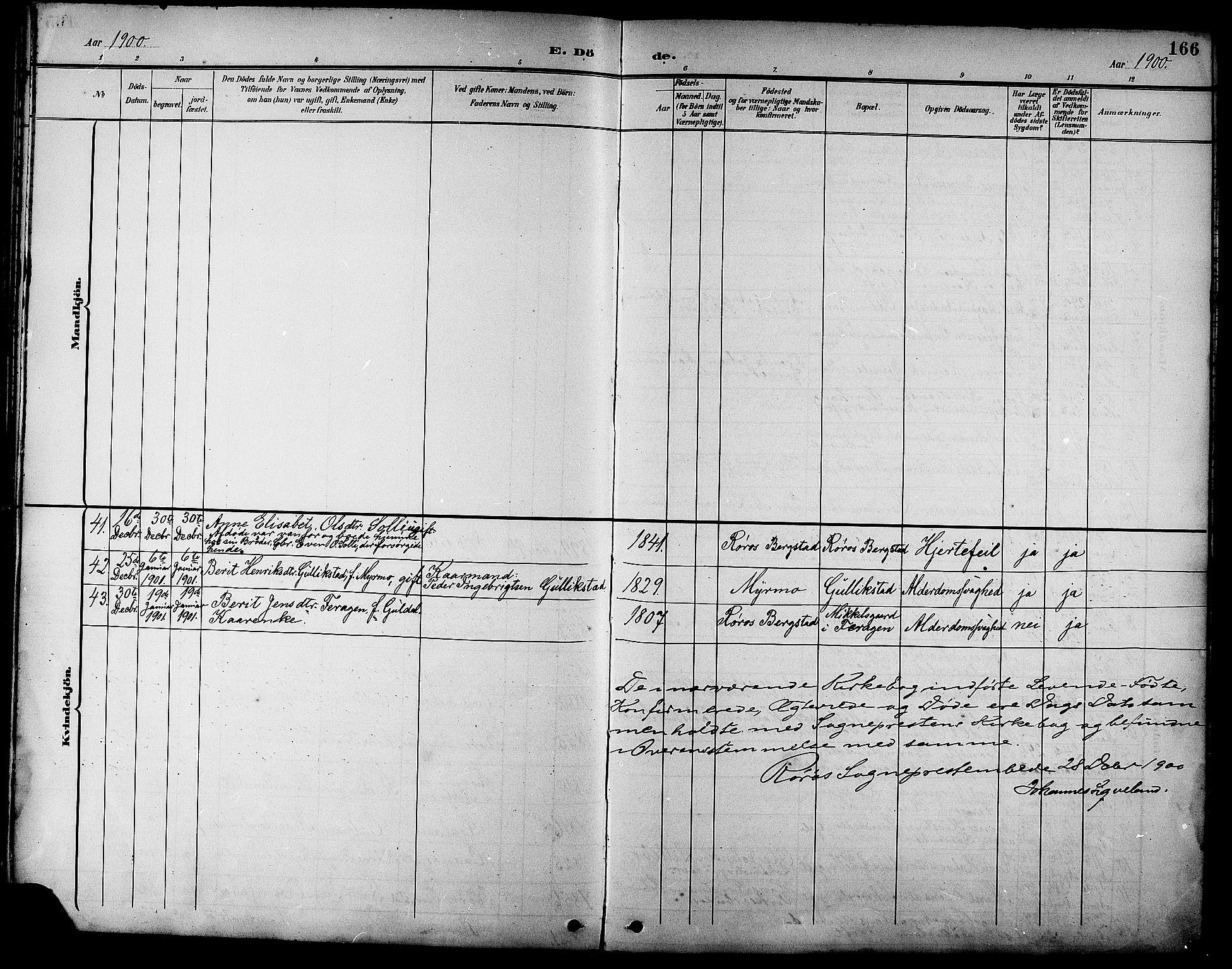 SAT, Ministerialprotokoller, klokkerbøker og fødselsregistre - Sør-Trøndelag, 681/L0941: Klokkerbok nr. 681C05, 1896-1905, s. 166