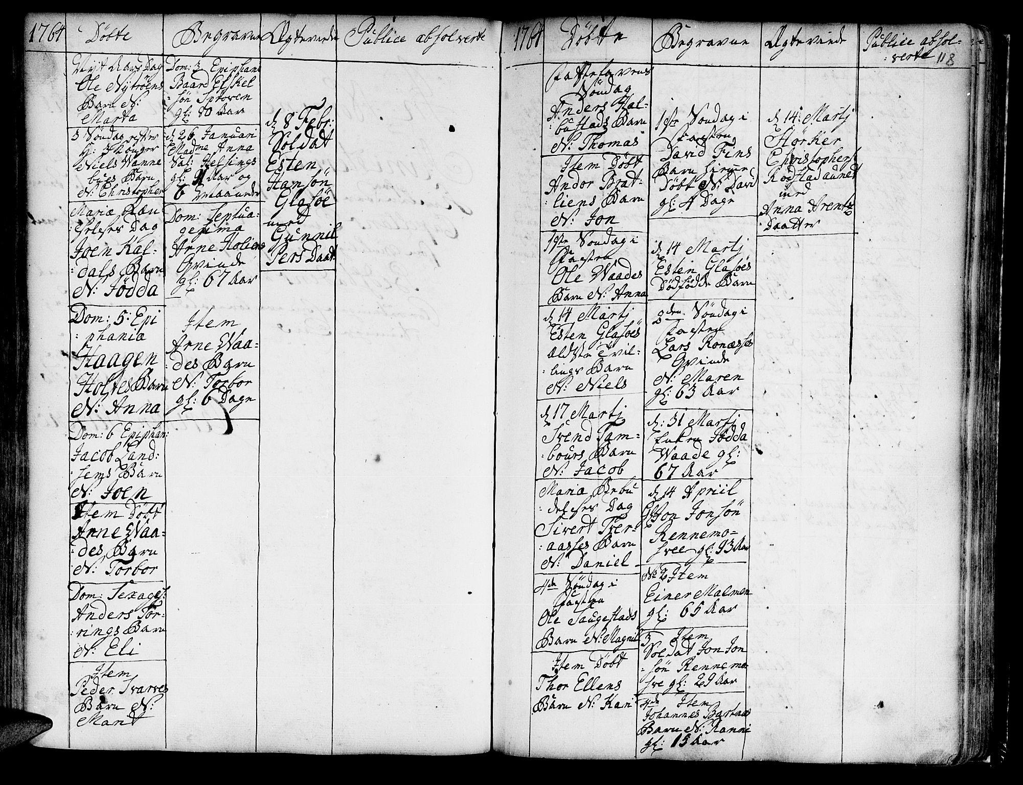 SAT, Ministerialprotokoller, klokkerbøker og fødselsregistre - Nord-Trøndelag, 741/L0385: Ministerialbok nr. 741A01, 1722-1815, s. 118