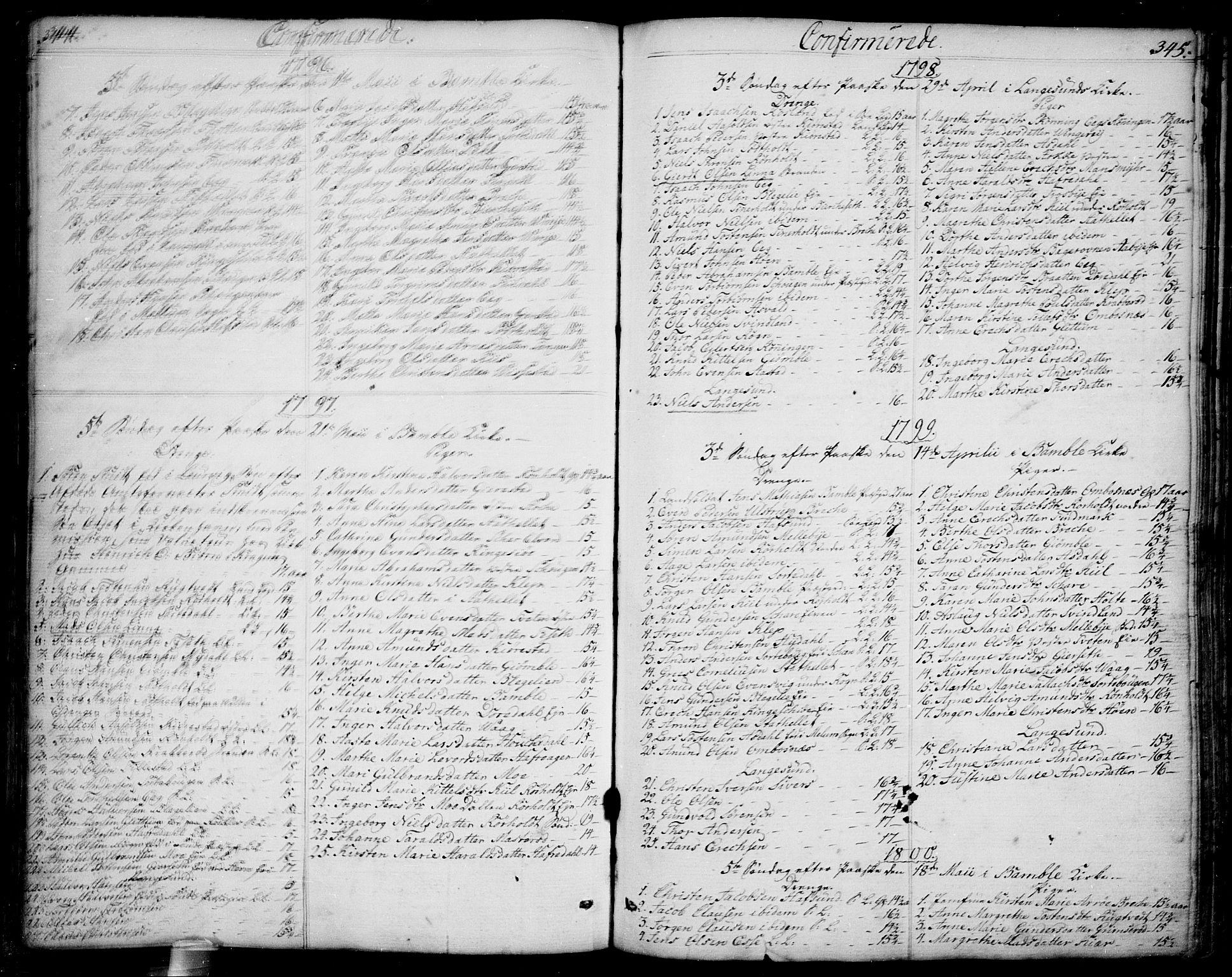 SAKO, Bamble kirkebøker, F/Fa/L0002: Ministerialbok nr. I 2, 1775-1814, s. 344-345