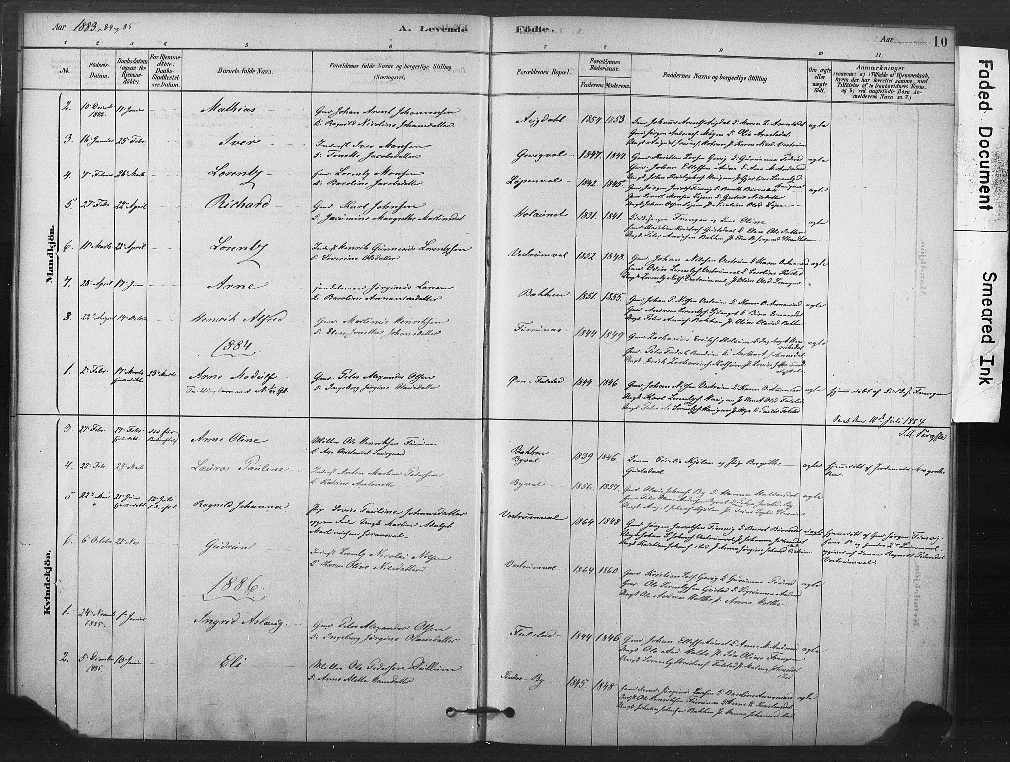 SAT, Ministerialprotokoller, klokkerbøker og fødselsregistre - Nord-Trøndelag, 719/L0178: Ministerialbok nr. 719A01, 1878-1900, s. 10