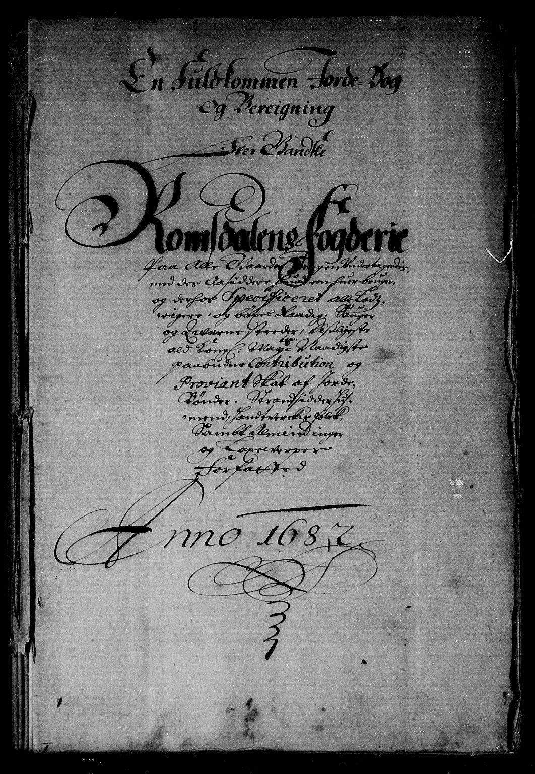 RA, Rentekammeret inntil 1814, Reviderte regnskaper, Stiftamtstueregnskaper, Trondheim stiftamt og Nordland amt, R/Rg/L0068b: Trondheim stiftamt og Nordland amt, 1682