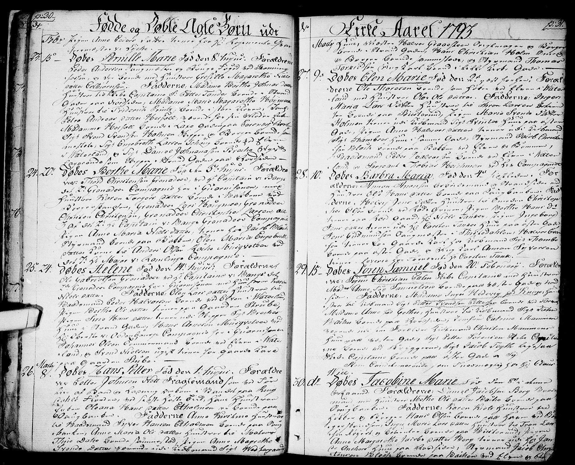 SAO, Halden prestekontor Kirkebøker, F/Fa/L0002: Ministerialbok nr. I 2, 1792-1812, s. 30-31