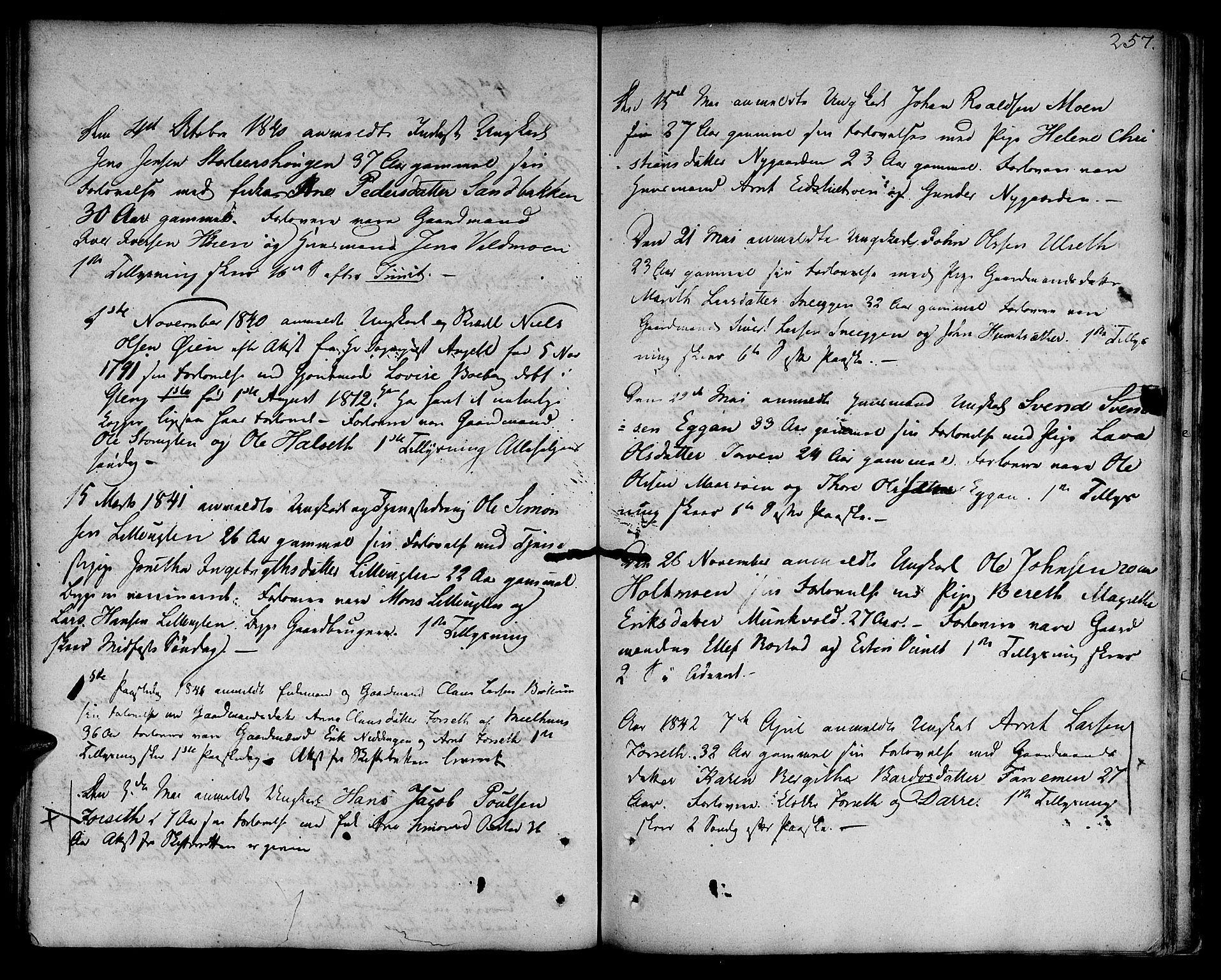 SAT, Ministerialprotokoller, klokkerbøker og fødselsregistre - Sør-Trøndelag, 618/L0438: Ministerialbok nr. 618A03, 1783-1815, s. 257