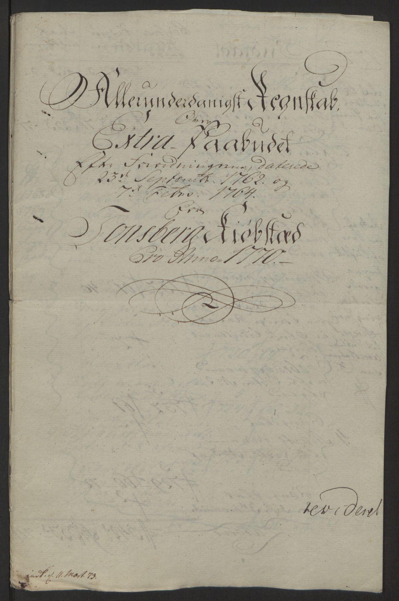 RA, Rentekammeret inntil 1814, Reviderte regnskaper, Byregnskaper, R/Rh/L0162: [H4] Kontribusjonsregnskap, 1762-1772, s. 369