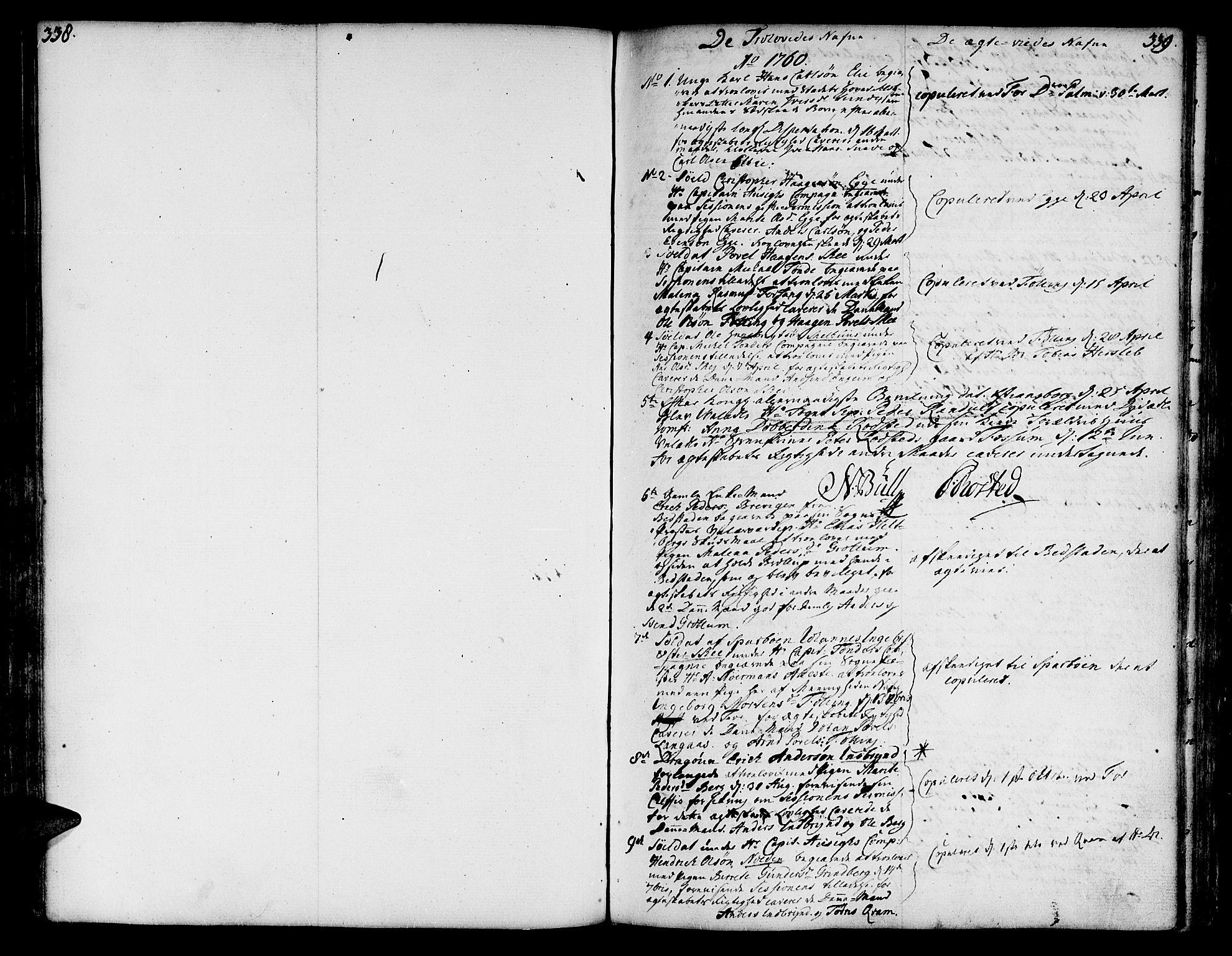 SAT, Ministerialprotokoller, klokkerbøker og fødselsregistre - Nord-Trøndelag, 746/L0440: Ministerialbok nr. 746A02, 1760-1815, s. 338-339
