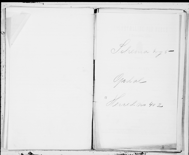 SAT, Folketelling 1900 for 1634 Oppdal herred, 1900, s. 1