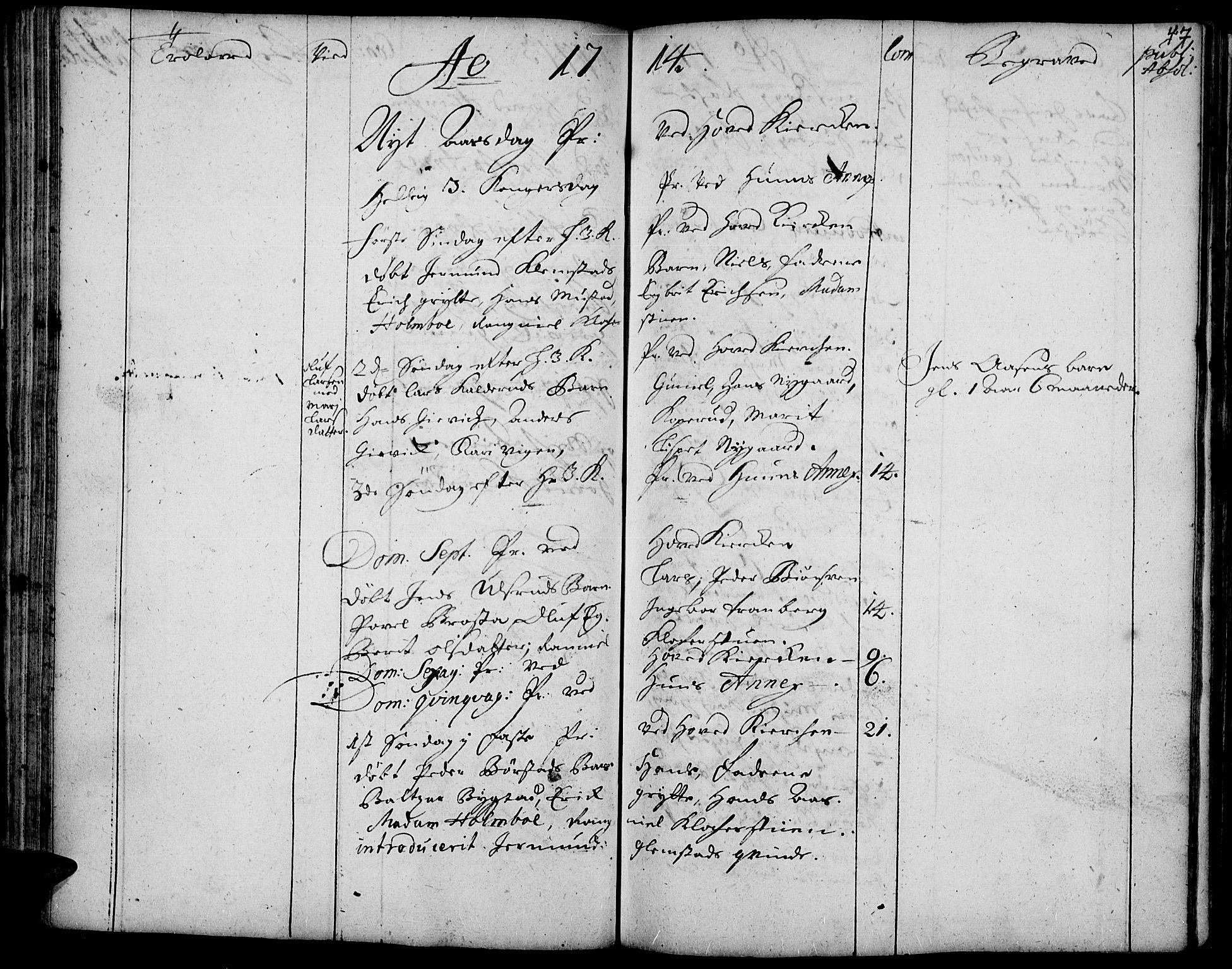 SAH, Vardal prestekontor, H/Ha/Haa/L0001: Ministerialbok nr. 1, 1706-1748, s. 47